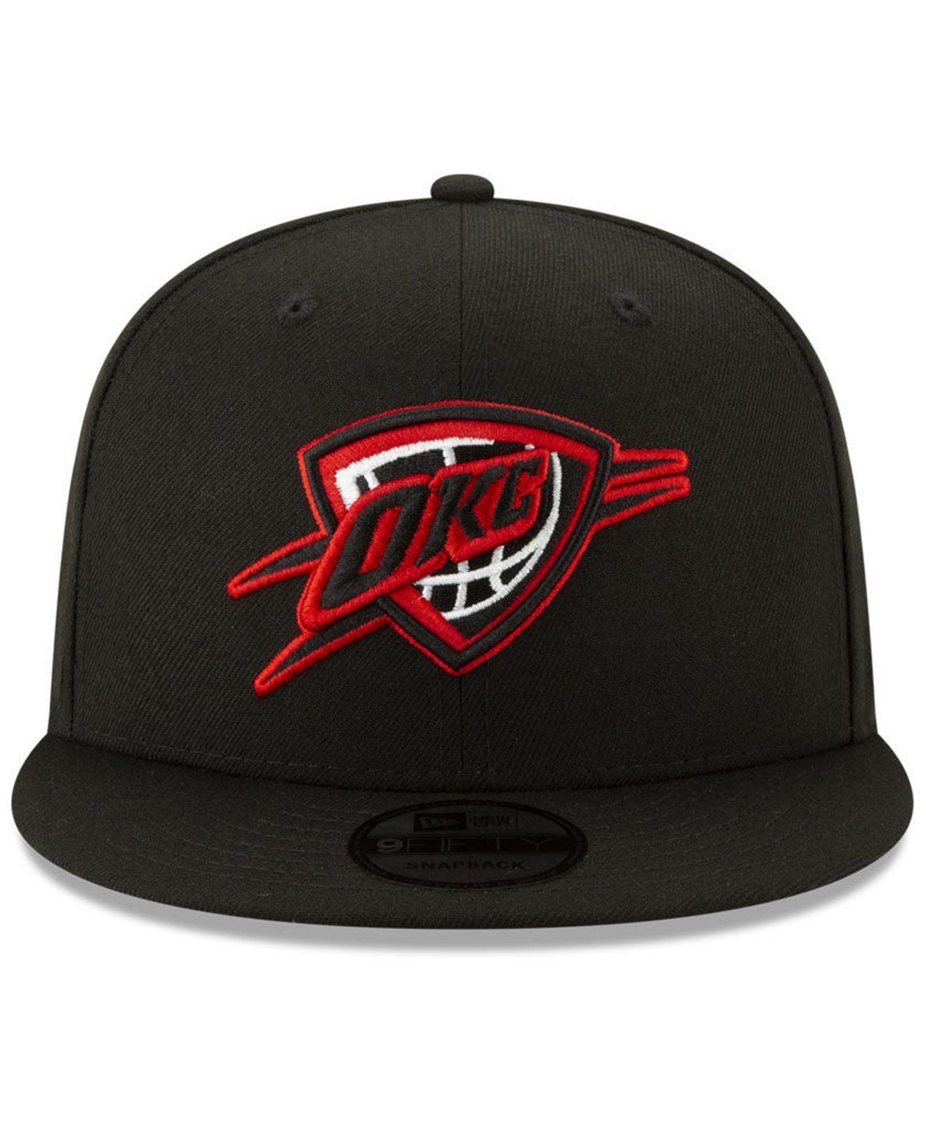 the best attitude bbffa 94e8f ireland lyst ktz oklahoma city thunder the bred man 9fifty snapback cap in  black for men