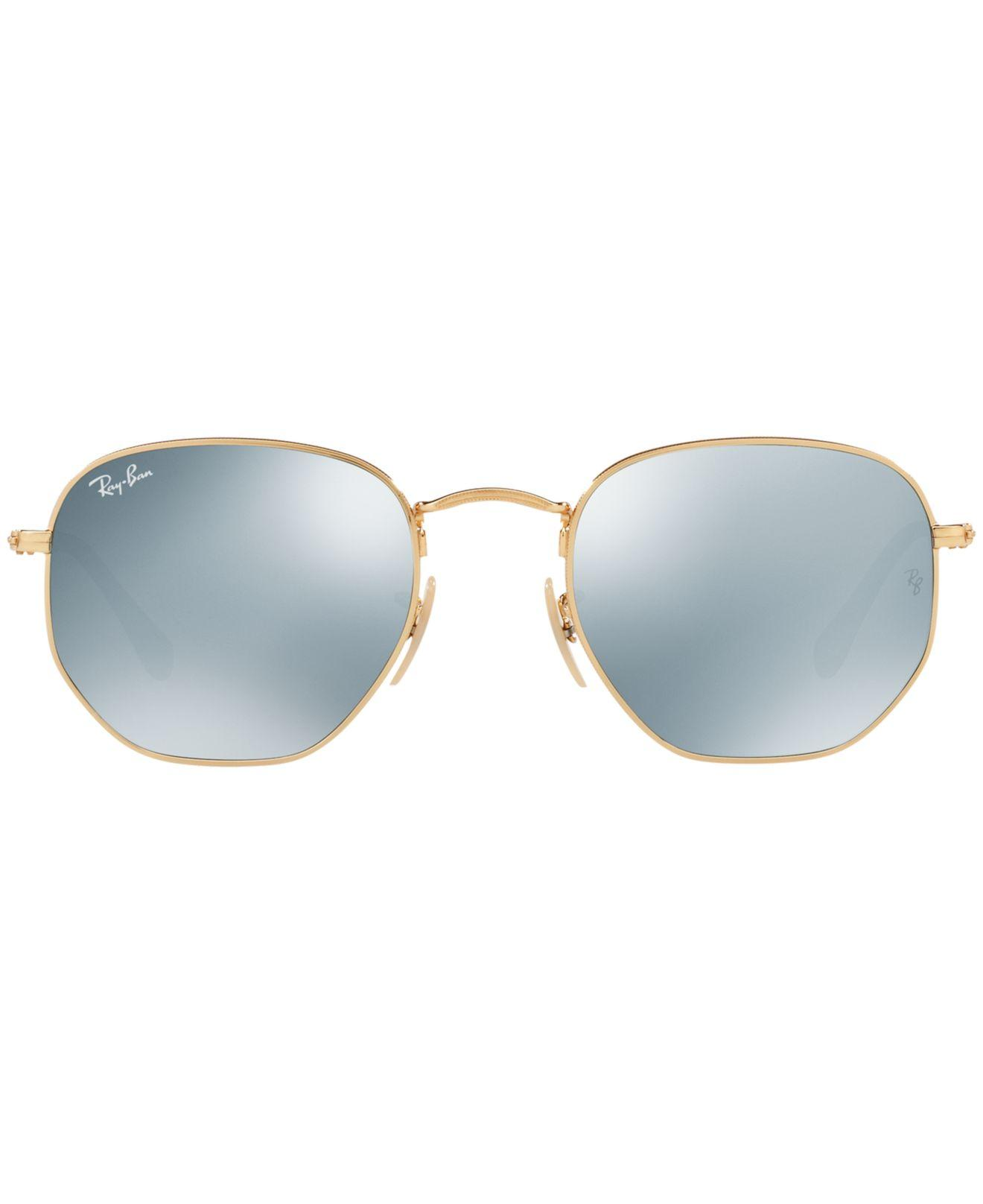6f3d4bd796b Lyst - Ray-Ban Hexagonal Flat Lenses in Metallic for Men - Save 2%