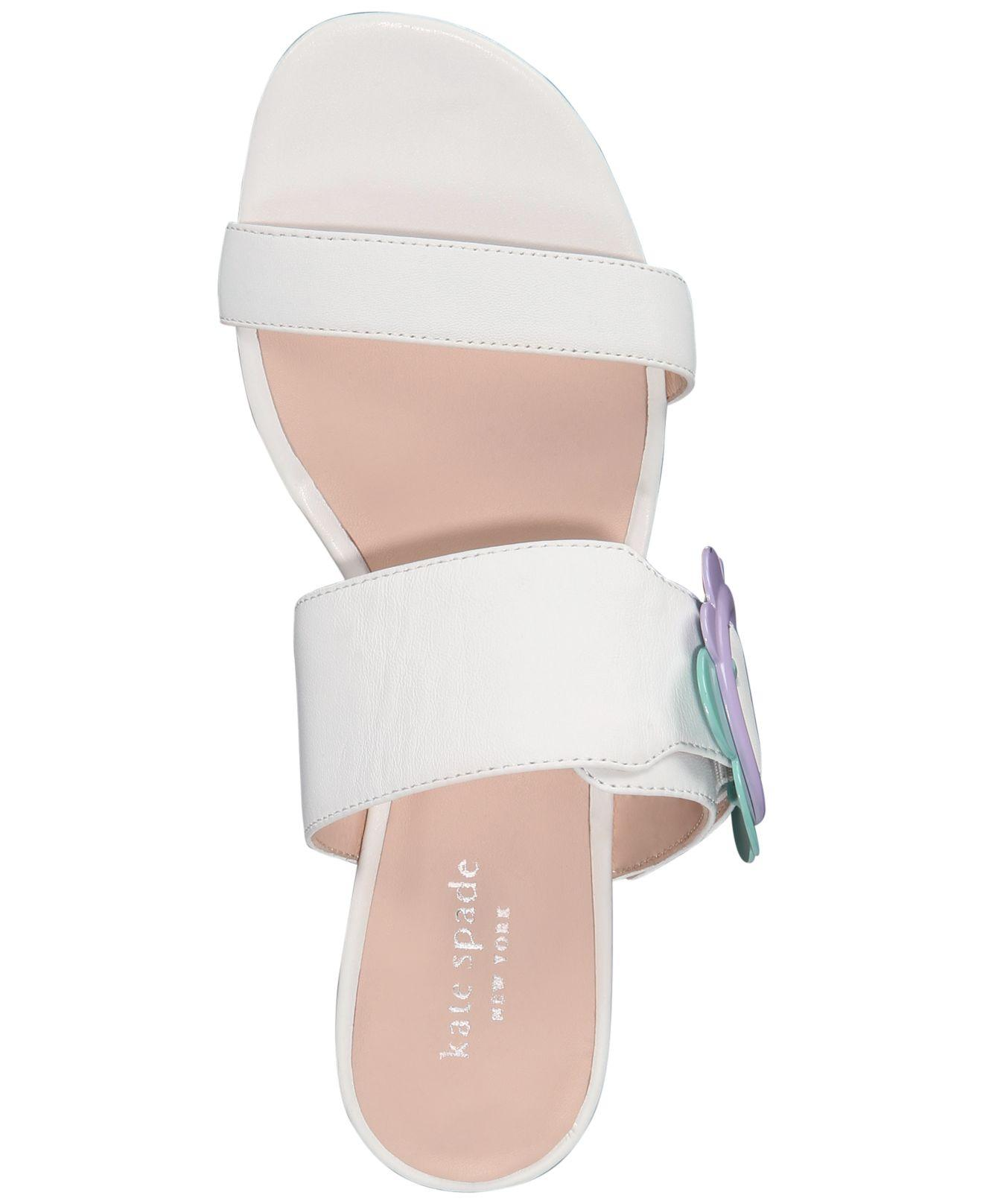 Kate Spade Fabi Sandals in White - Save