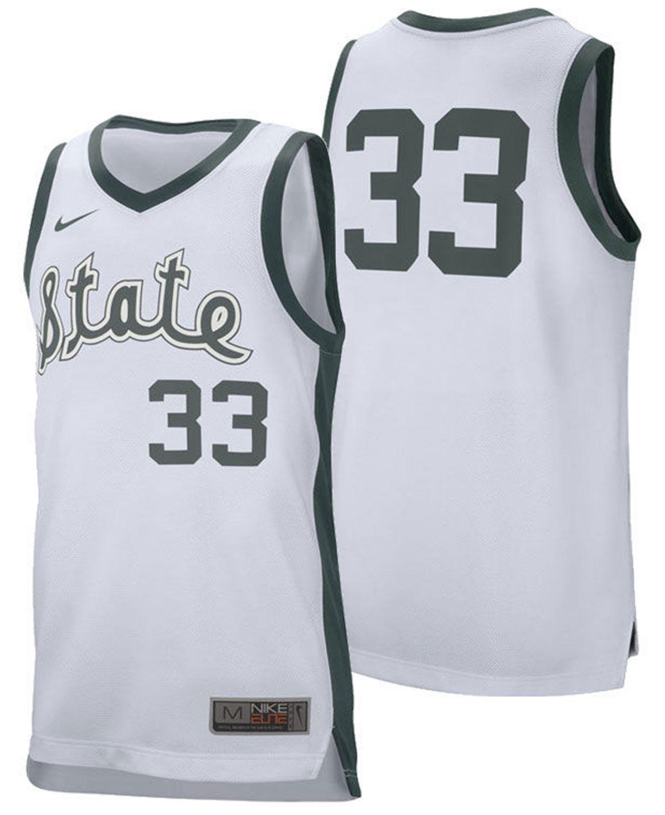 info for 8332b 50f67 Men's White Michigan State Spartans Retro Basketball Jersey