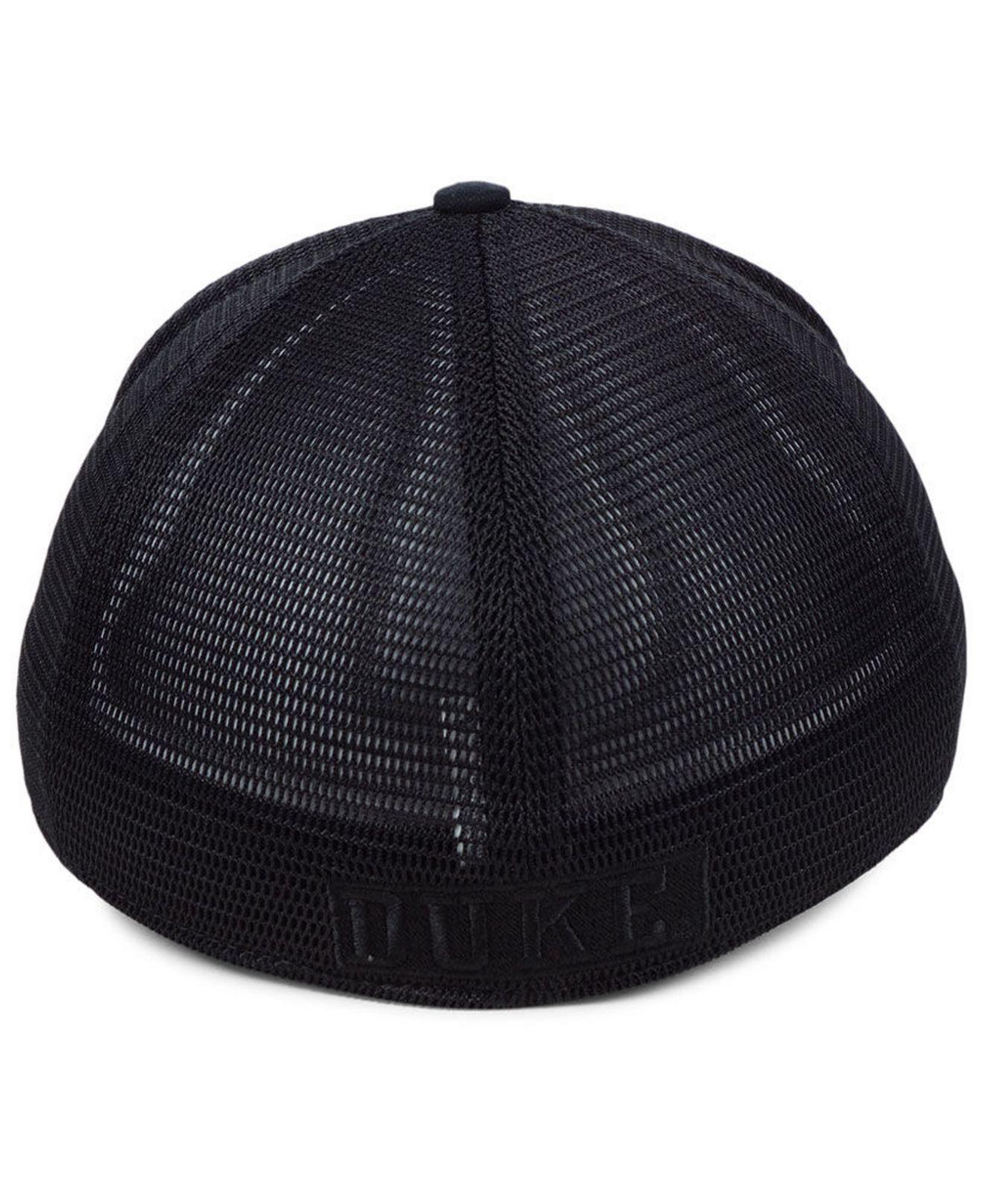 on sale 3faff 2a745 Nike Duke Blue Devils Aerobill Black Swoosh Cap in Black for Men - Lyst