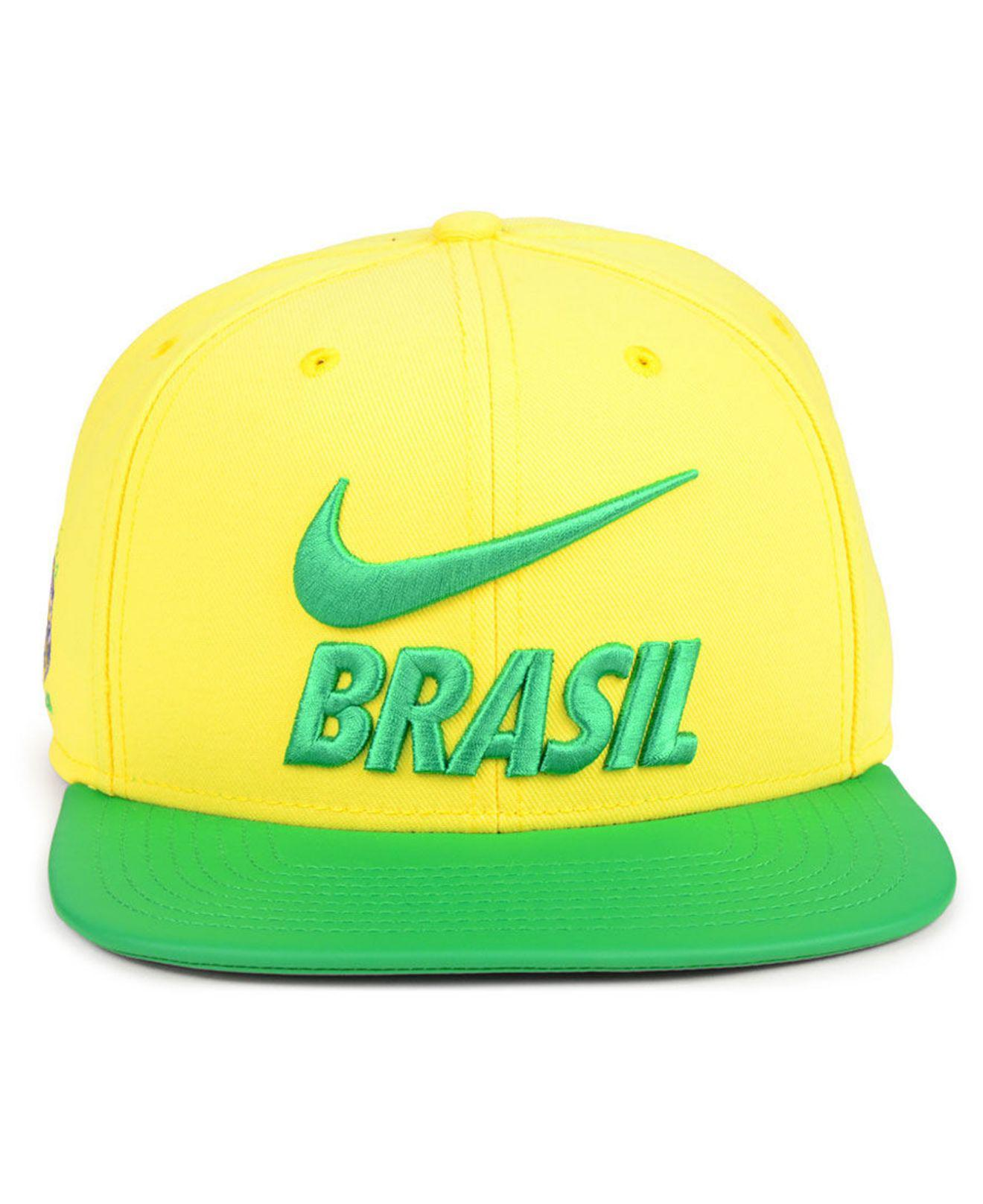 Lyst - Nike Brazil National Team Snapback Cap in Yellow for Men 17a8298ddcfd