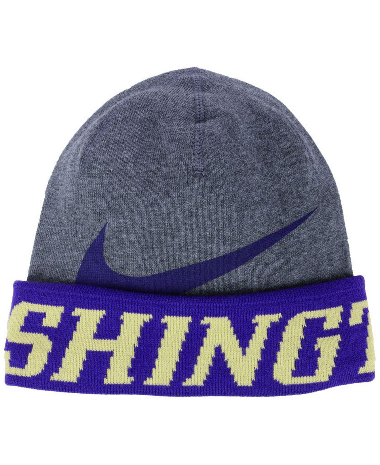 designer fashion 2009a 96f52 Nike Washington Huskies Training Beanie Knit Hat in Gray for Men - Lyst