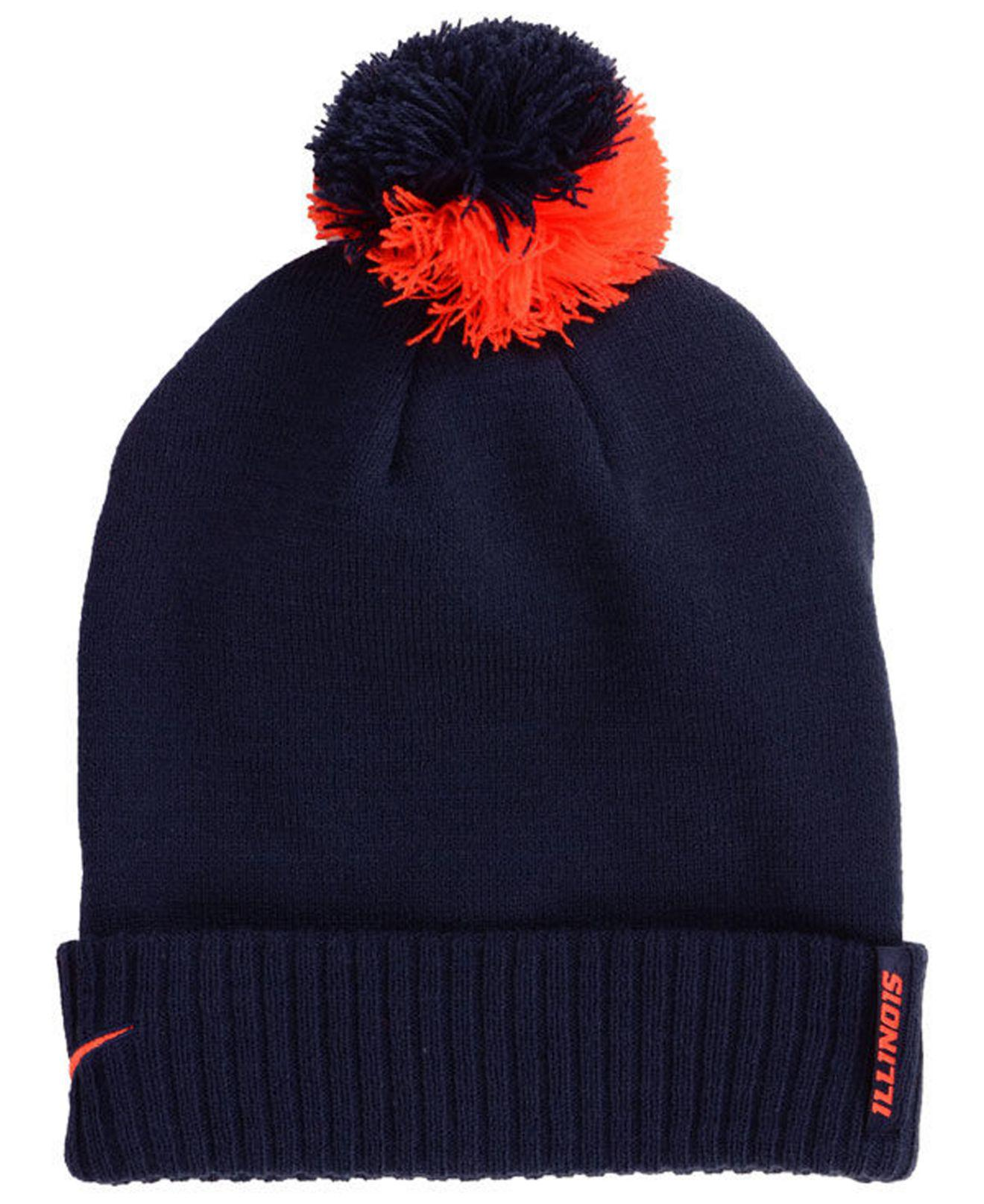 good out x 2018 shoes new arrivals Nike Synthetic Illinois Fighting Illini Beanie Sideline Pom Hat in ...