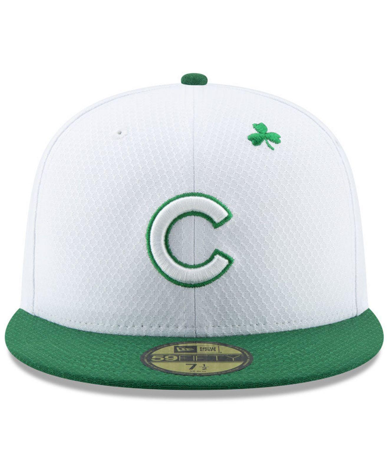 b21ea57c86f Lyst - KTZ Chicago Cubs St. Pattys Day 59fifty-fitted Cap in White for Men
