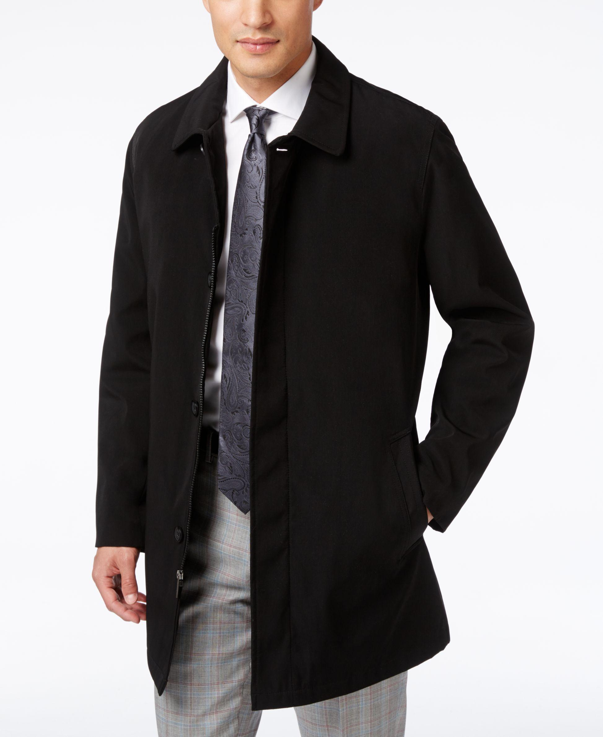 Kenneth Cole Revere Raincoat In Black For Men Lyst