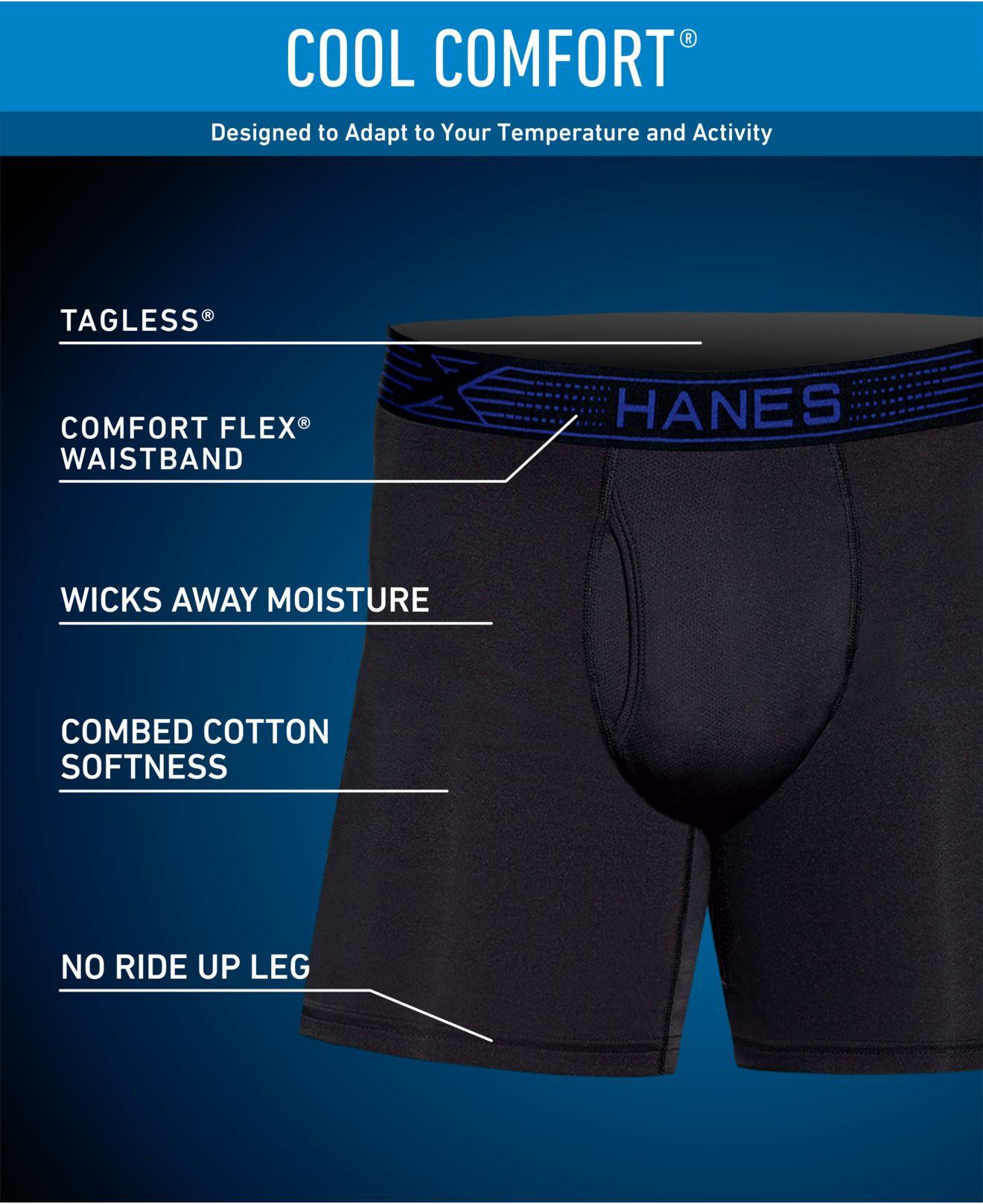 a362c7e35f3c Hanes 4-pack X-temp Performance Boxer Briefs in Gray for Men - Save 55% -  Lyst