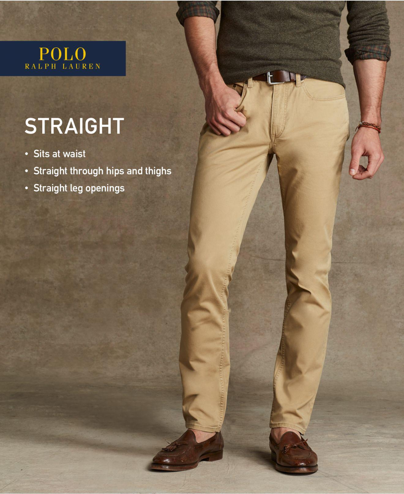 9884dabad2ba Lyst - Polo Ralph Lauren Hampton Straight-fit Stretch 5-pocket Pants ...