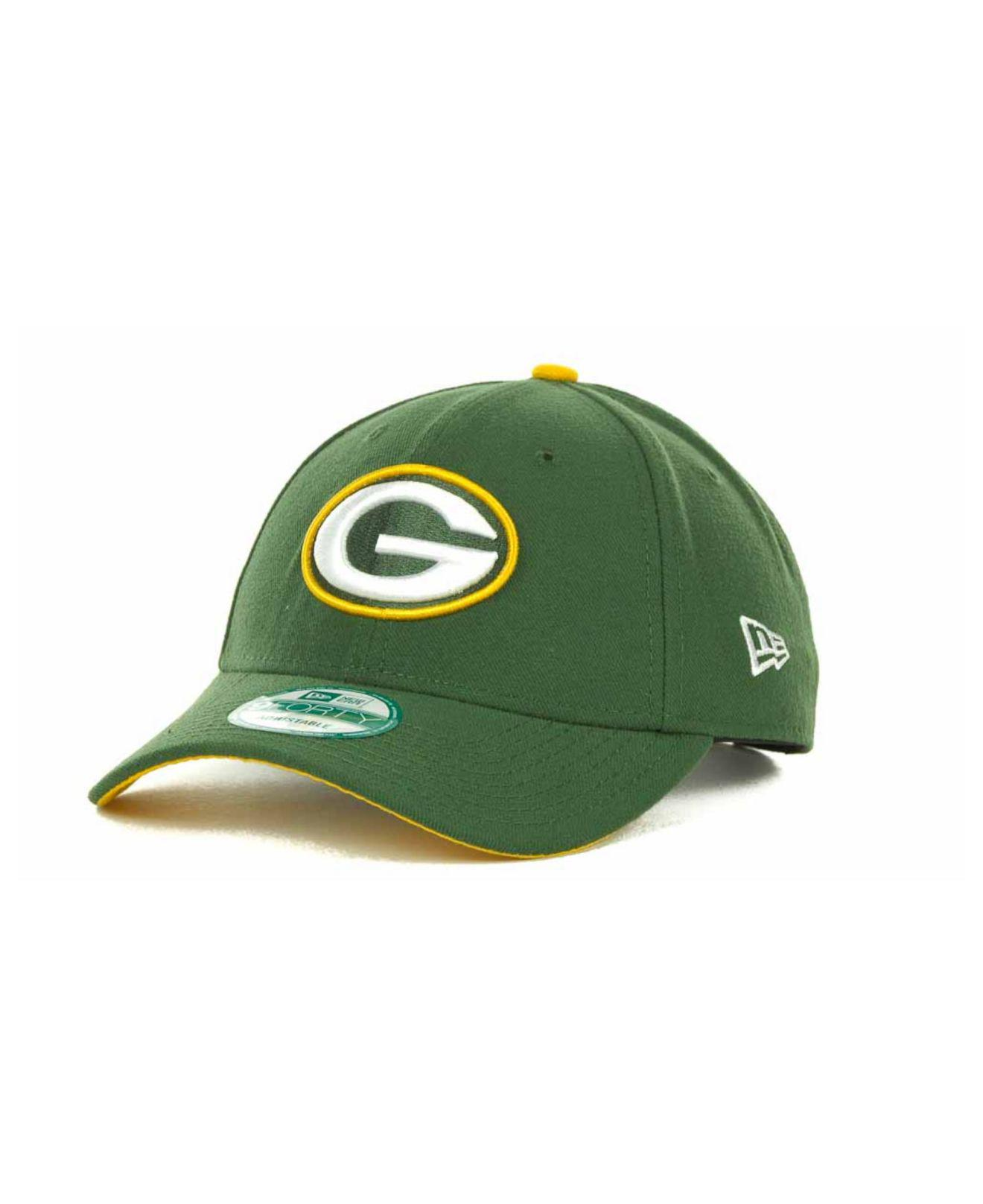 627ad6818d9 Lyst - Ktz Green Bay Packers First Down 9forty Cap in Green for Men