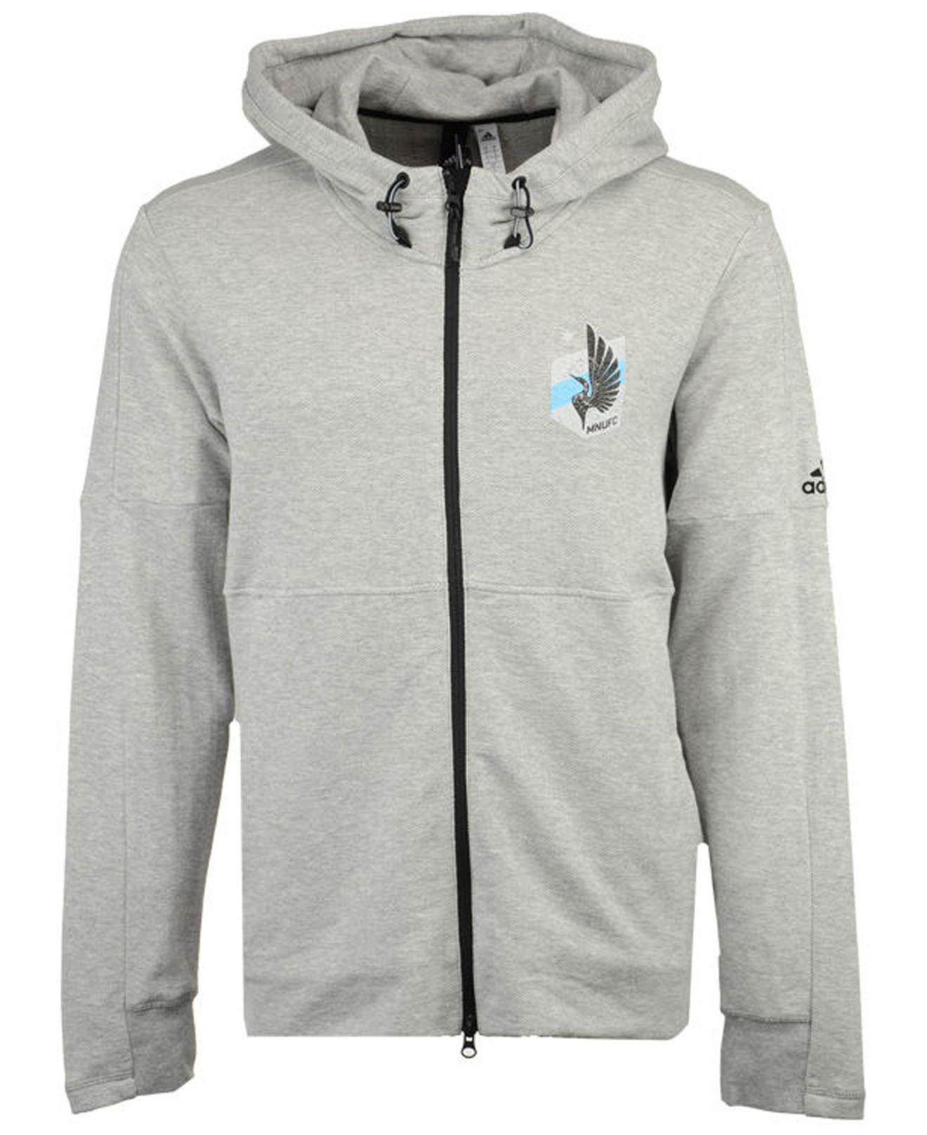 1b3576d379 Adidas Gray Minnesota United Fc Ultimate Worn Full-zip Hoodie for men