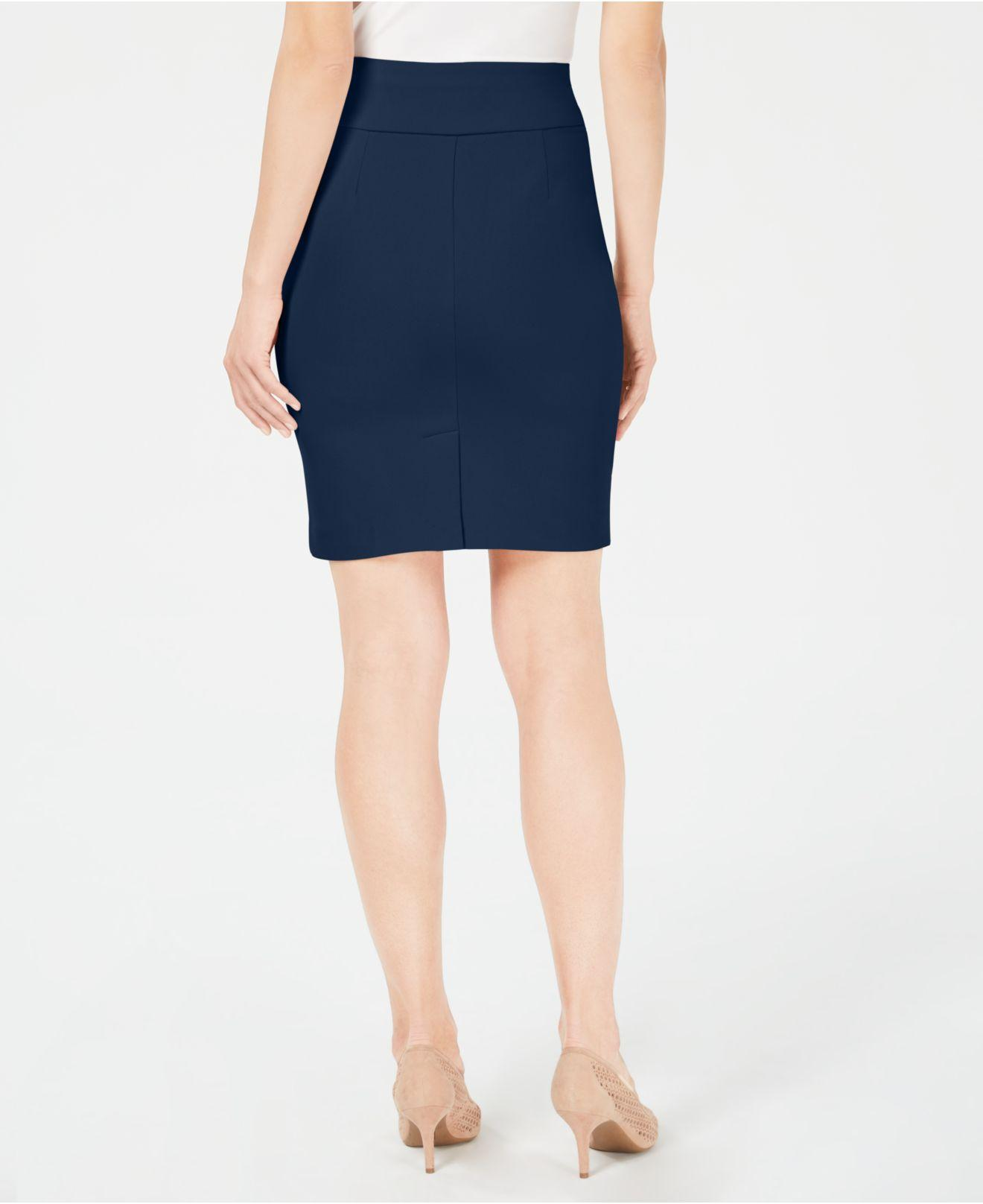dcd15a498d Lyst - Alfani Crepe Pencil Skirt, Created For Macy's in Blue