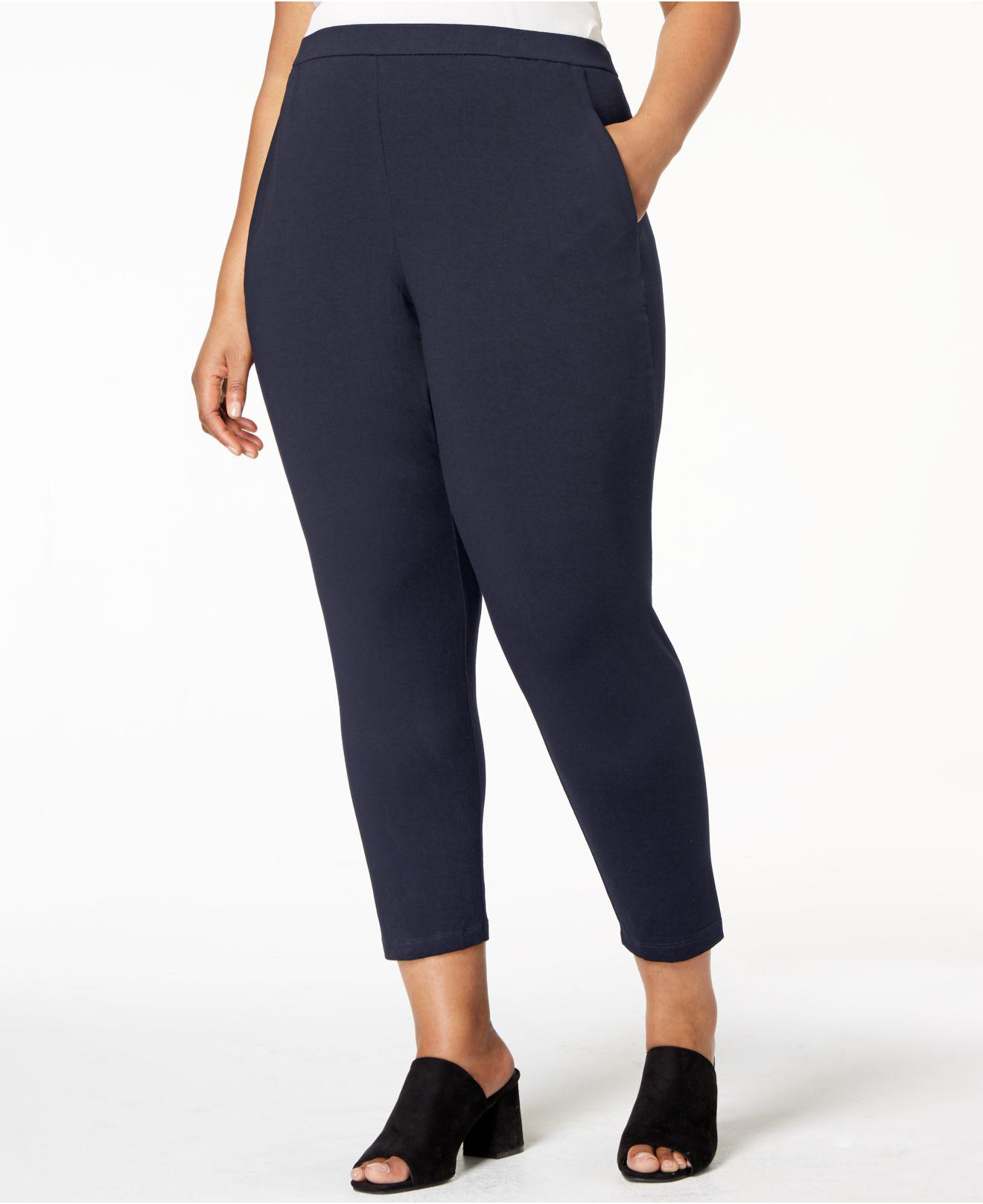 aa9e6d47bf7 Lyst - Eileen Fisher System Slim Slouchy Ankle Pants in Blue