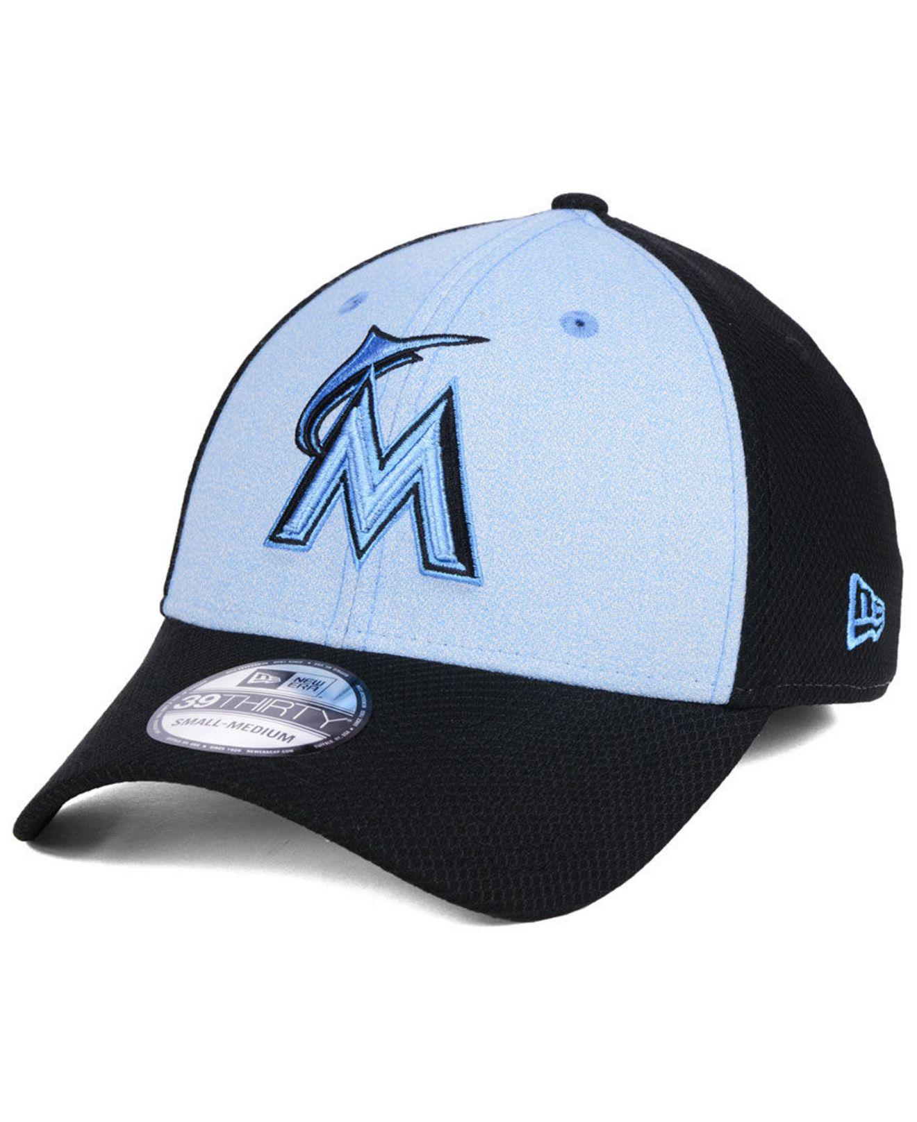 low priced d9cb9 1715b ... promo code for lyst ktz miami marlins fathers day 39thirty cap 2018 in  black for men