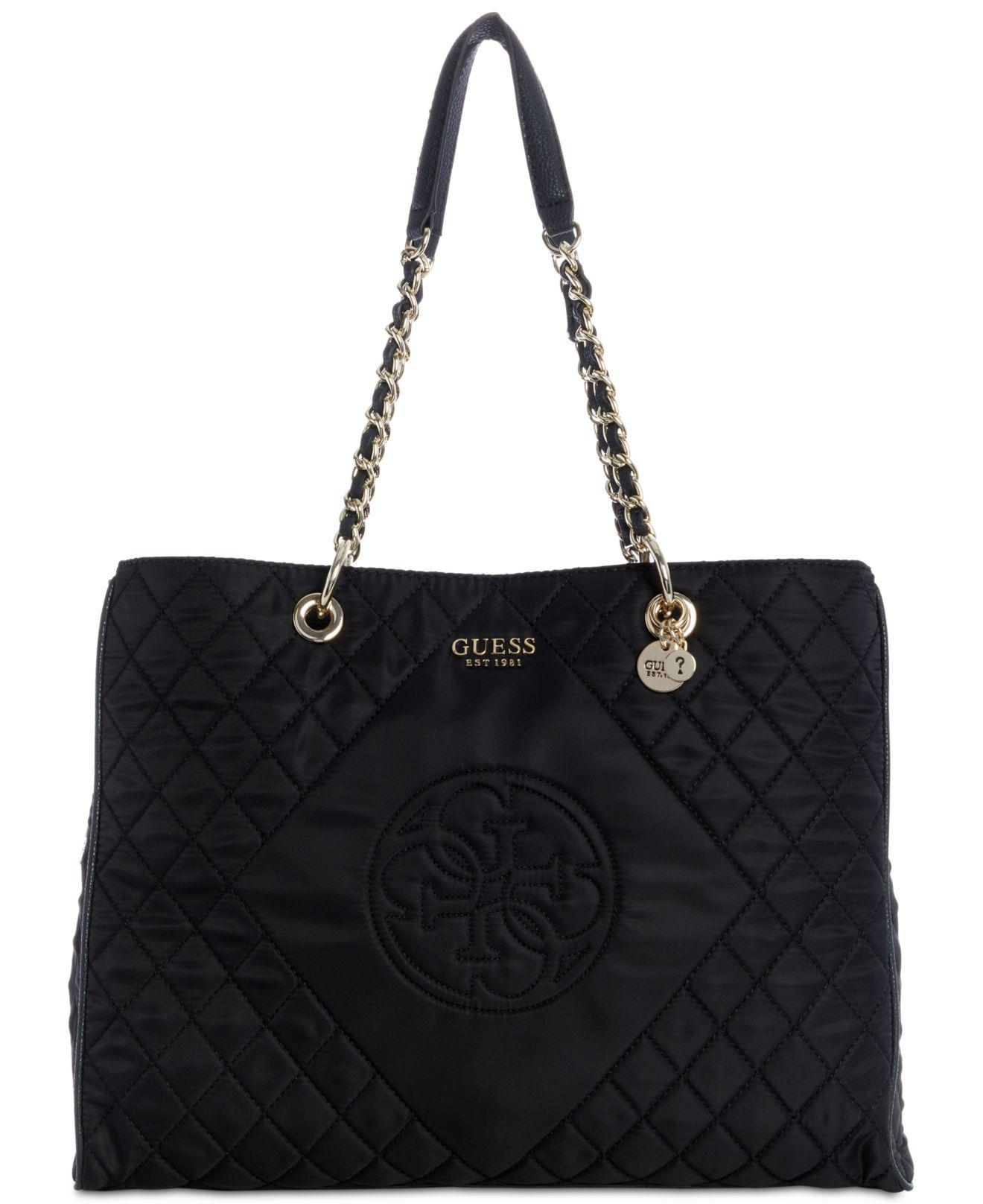 35f34824c607 Guess Black Sweet Candy Nylon Tote