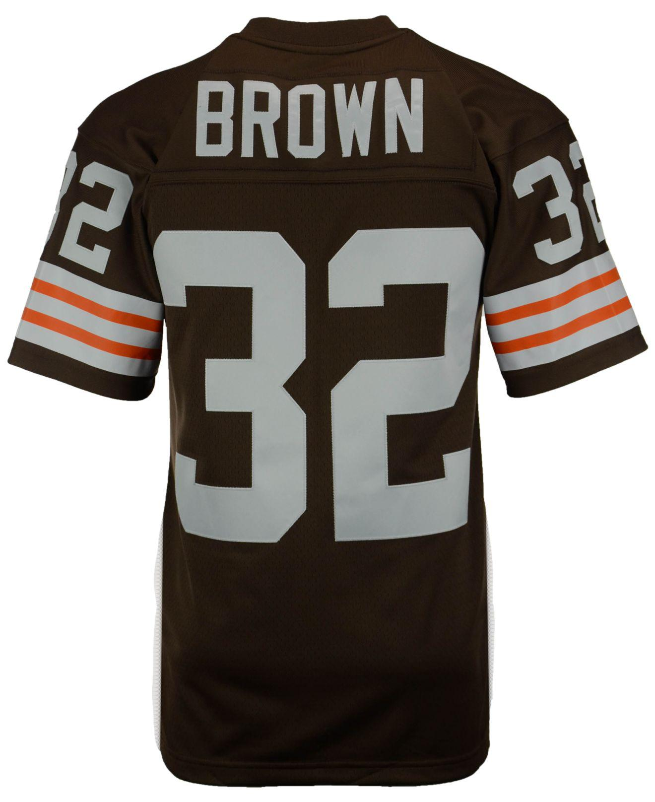 514af535852 Lyst - Mitchell & Ness Men's Replica Throwback Jersey in Brown for Men