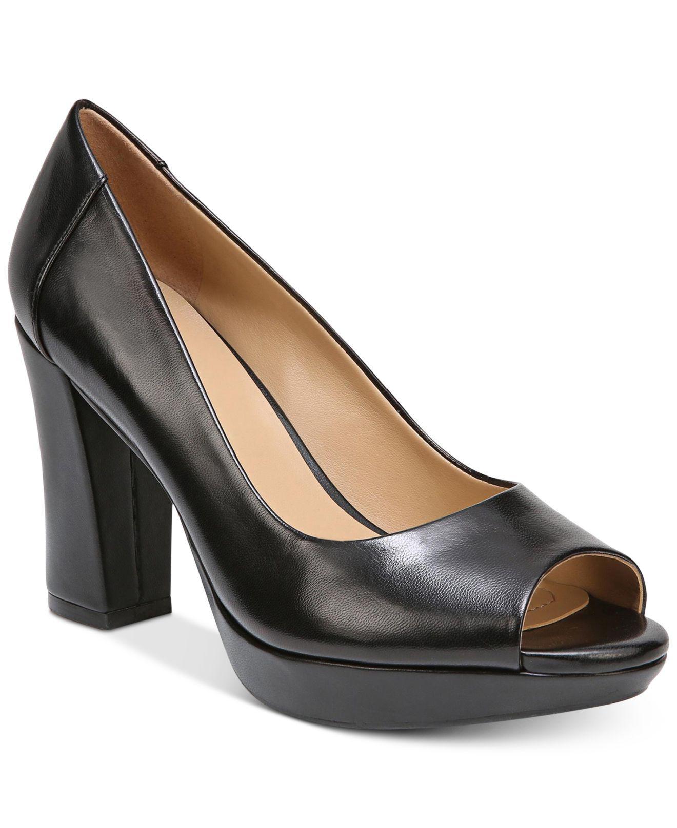 naturalizer open toe heels