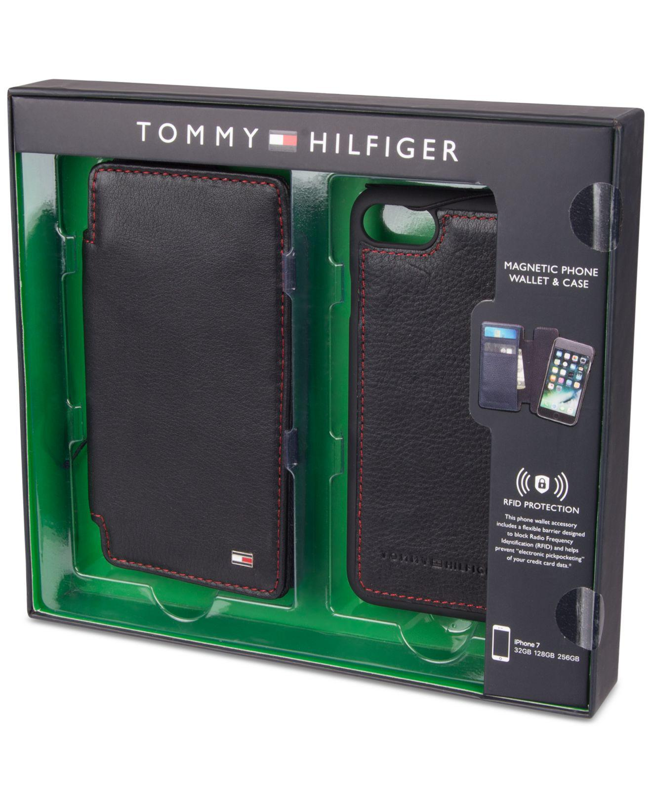 new products 23df4 30f64 Tommy Hilfiger Black Men's Magnetic Folio Iphone 7 Case for men