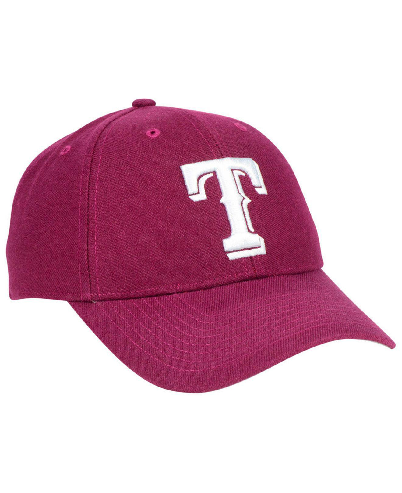 100% authentic 6f264 d9c56 ... get lyst 47 brand texas rangers cardinal mvp cap in red for men f678b  7ba04