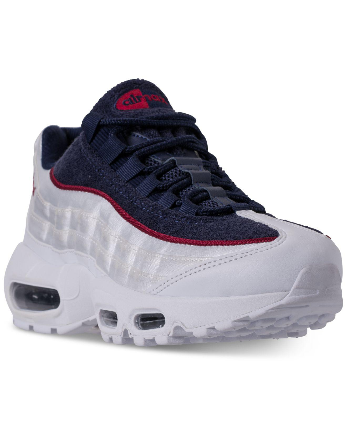 Lyst - Nike Air Max 95 Lx Casual Sneakers From Finish Line in White f7efd2866
