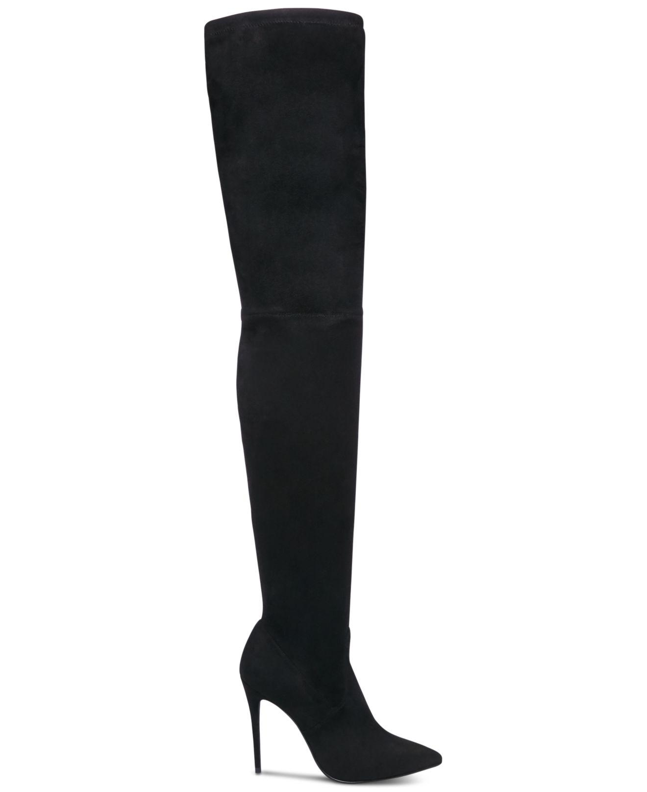 44249d1c984 Women's Black Dominique Over-the-knee Stretch Boots