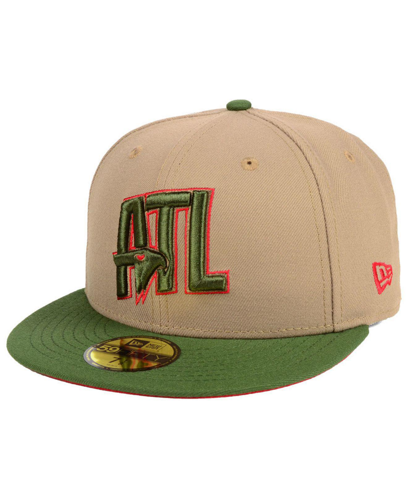 premium selection bd906 153de ... low cost ktz. mens green atlanta hawks fall 2 tone combo 59fifty fitted  cap b5036