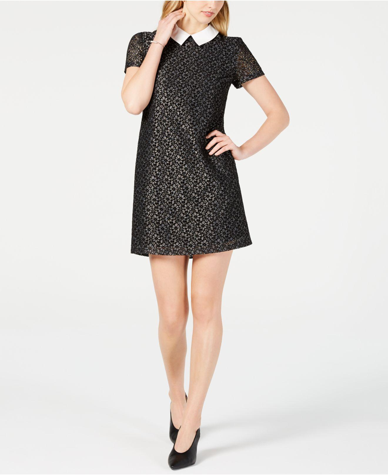 4a40f82825b6 Lyst - Maison Jules Collared Lace Shift Dress