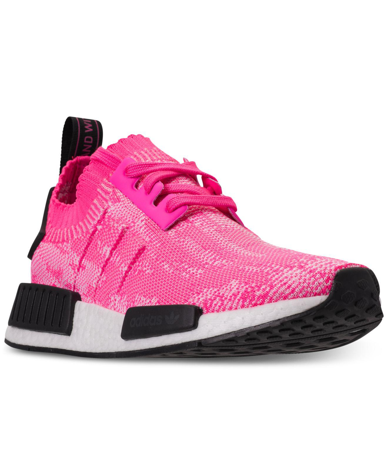 fa84f384b Lyst - adidas Nmd R1 Primeknit Casual Sneakers From Finish Line in Pink