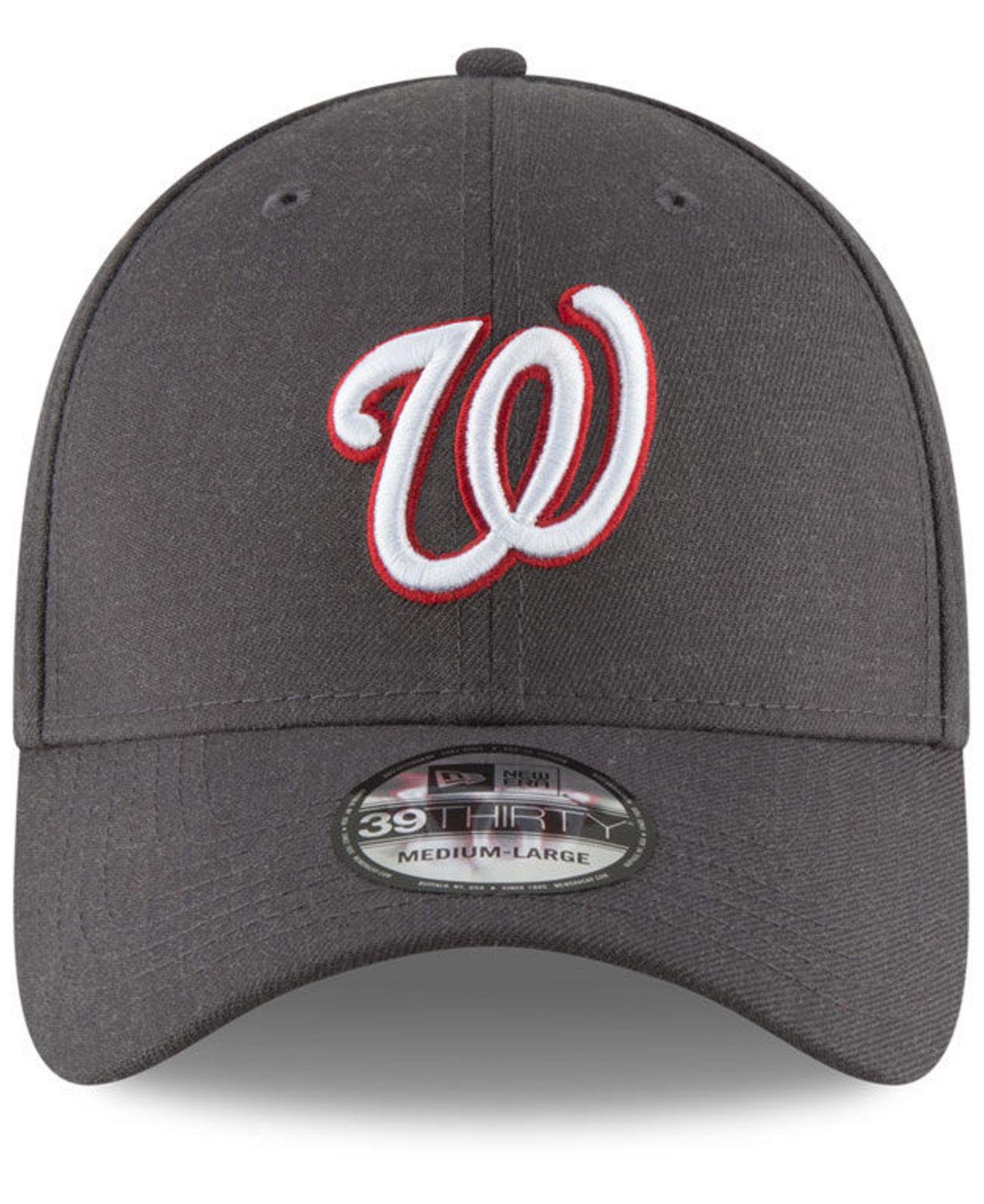 c071269ca16 Lyst - Ktz Washington Nationals Charcoal Classic 39thirty Cap in Gray for  Men