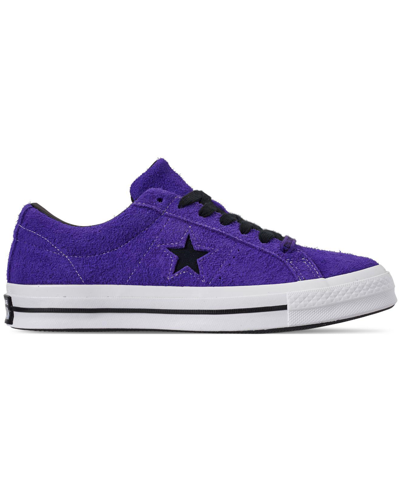 Lyst - Converse One Star Purple And Black Suede Trainers - Mens Uk 8 in  Purple for Men - Save 47% 58db6f3a4