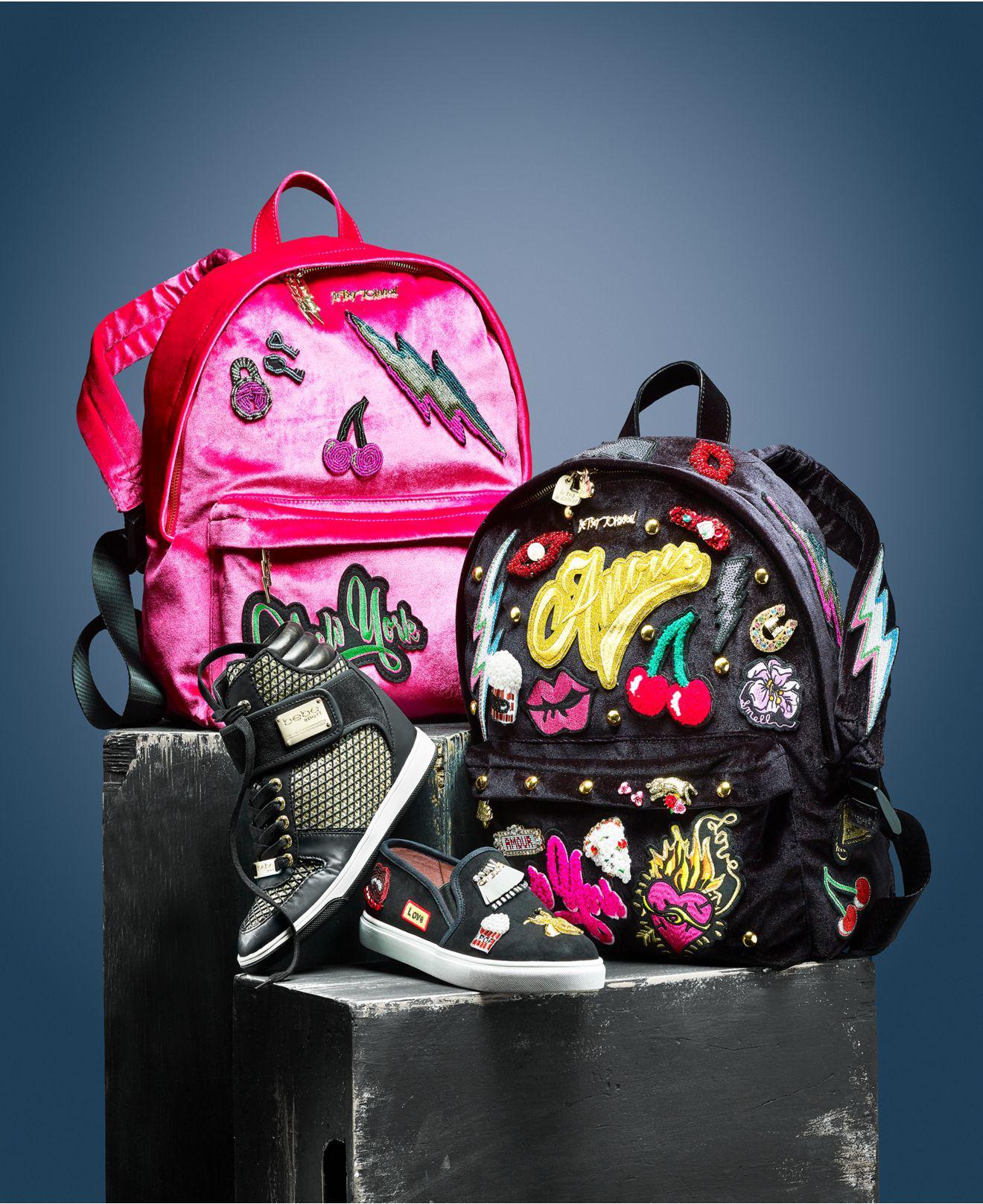 Betsey Johnson Backpack Black And Pink- Fenix Toulouse Handball 41876f746e833