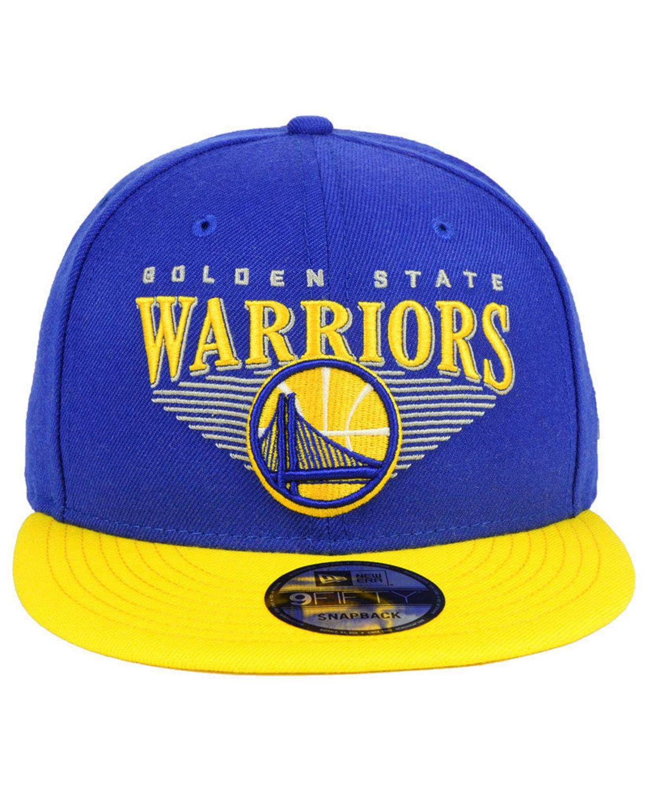 buy online 4bac0 3ff71 ... official store lyst ktz golden state warriors retro triangle 9fifty  snapback cap in blue for men