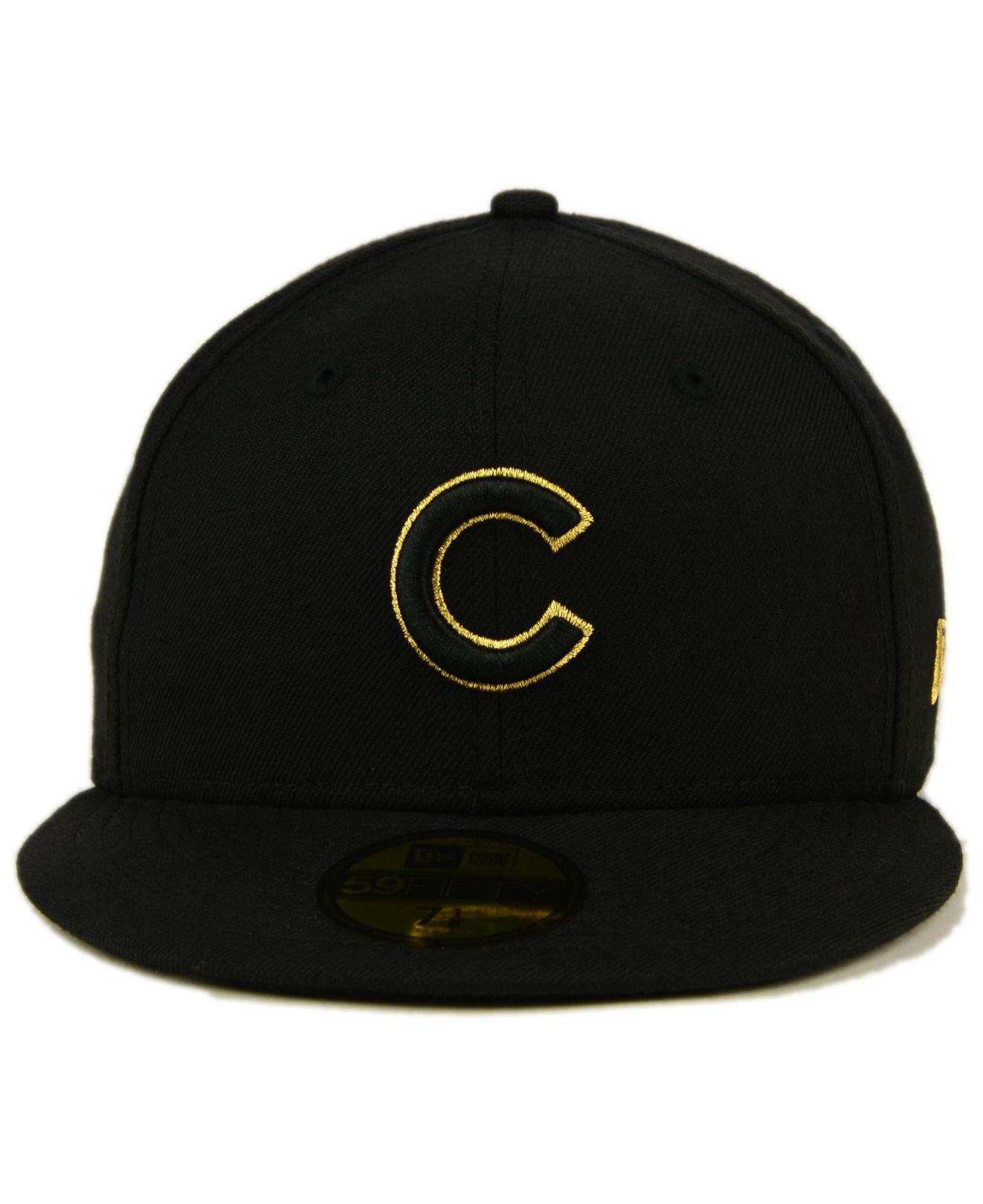 Lyst - Ktz Chicago Cubs Black On Metallic Gold 59fifty Fitted Cap in Black  for Men f5265178f263