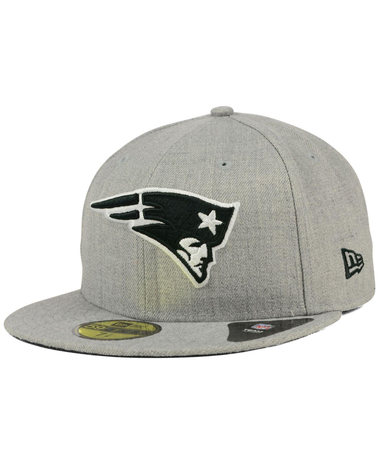 Lyst - KTZ New England Patriots Heather Black White 59fifty Cap in ... ae53a268f