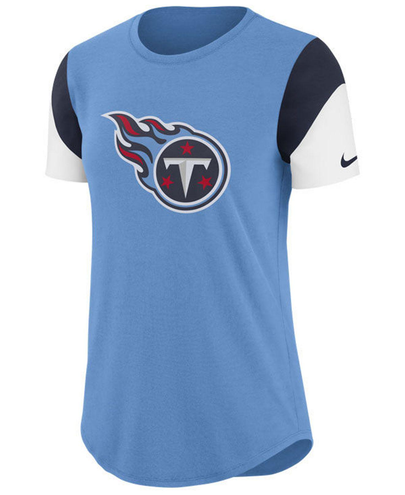 e6318a61 Lyst - Nike Tennessee Titans Tri-fan T-shirt in Blue