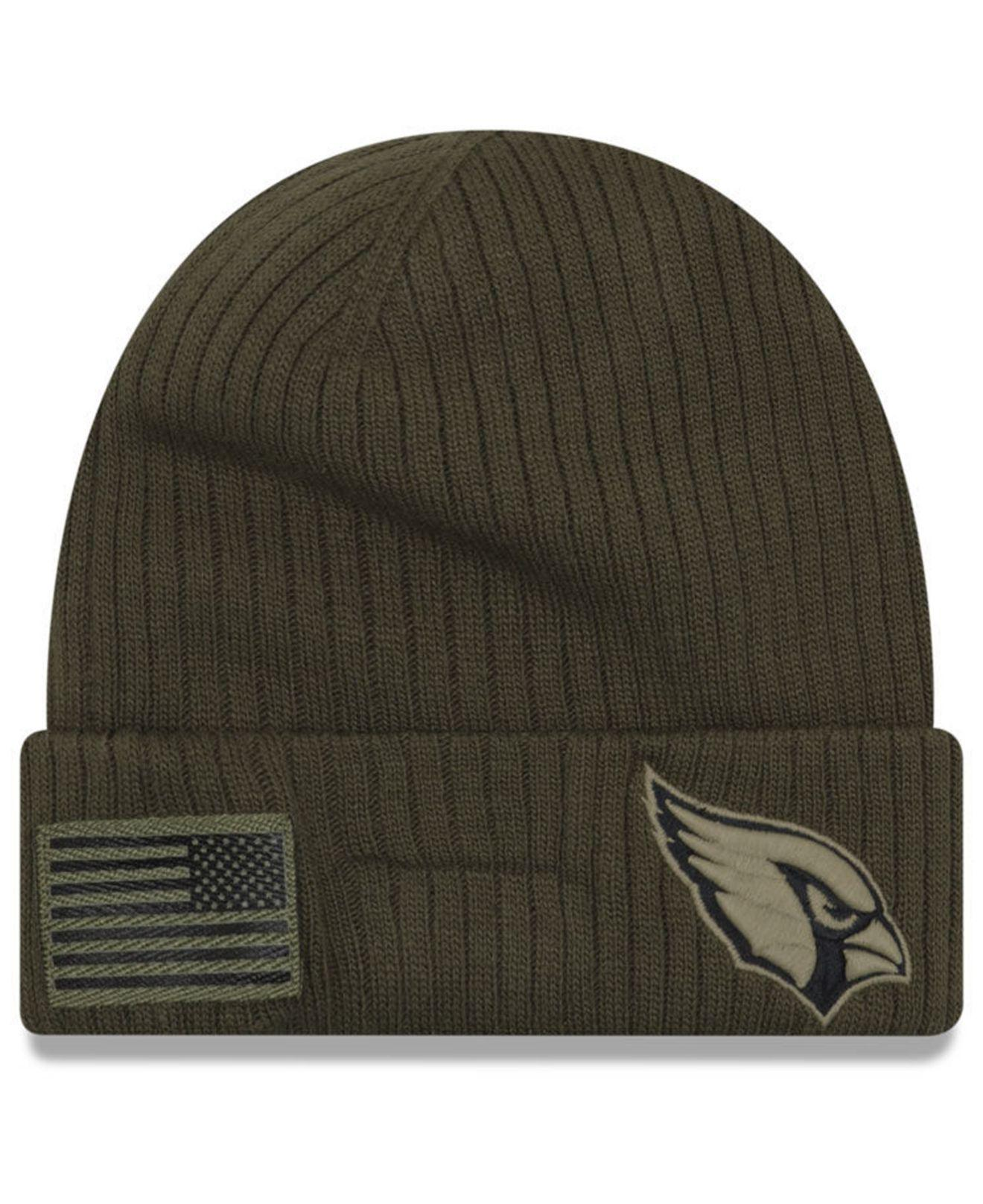 Lyst - Ktz Arizona Cardinals Salute To Service Cuff Knit Hat in Green for  Men cc6cf14e0