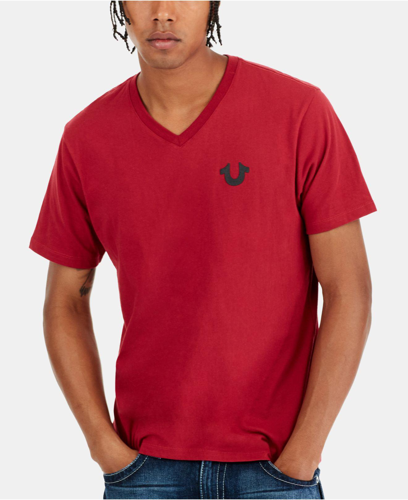 487915ca8 Lyst - True Religion Classic Horseshoe Logo T-shirt in Red for Men