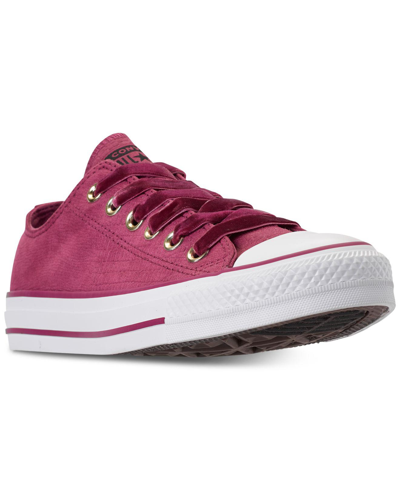 0962da707330 Converse. Women s Purple Chuck Taylor Ox Casual Sneakers From Finish Line