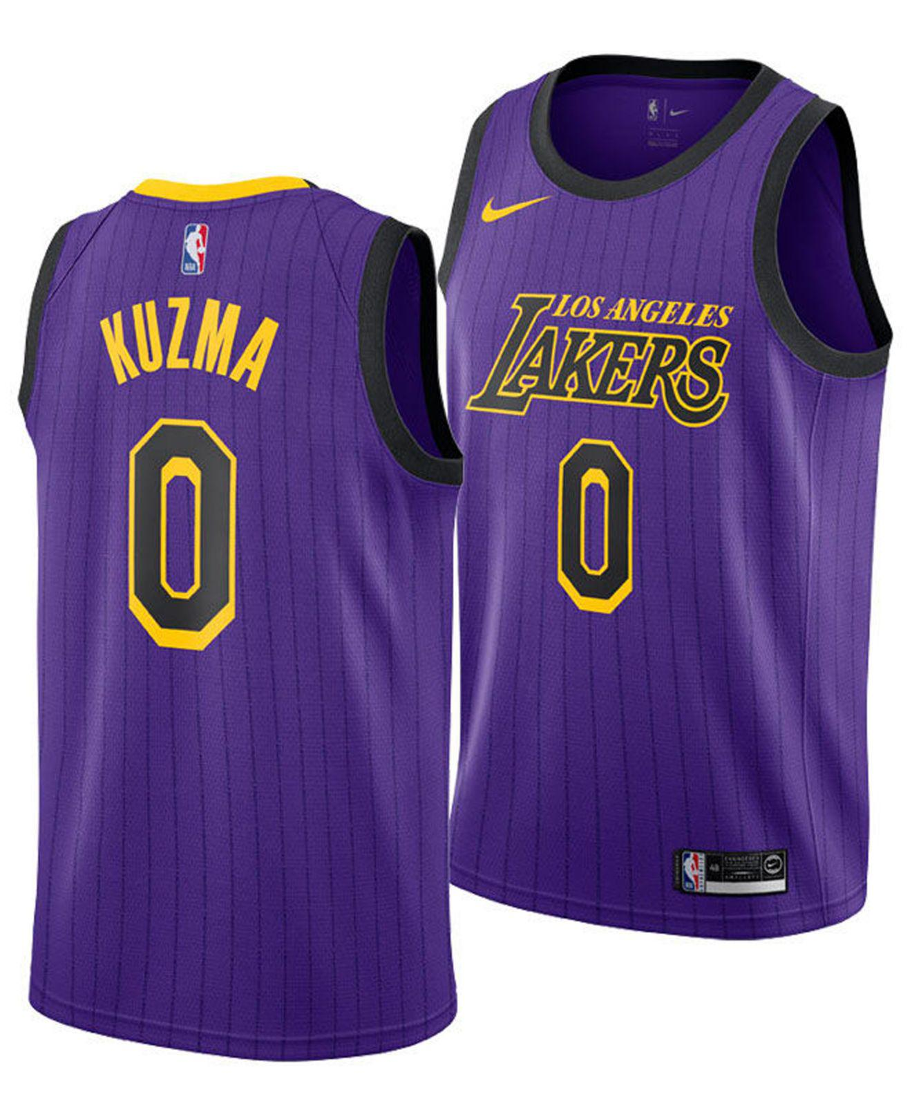 huge inventory 27556 d99e4 Nike Purple Kyle Kuzma Los Angeles Lakers City Swingman Jersey 2018 for men