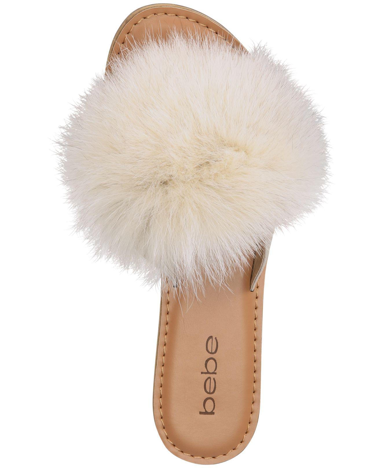Fur Katerina Pom Pom Thong Flat Sandals