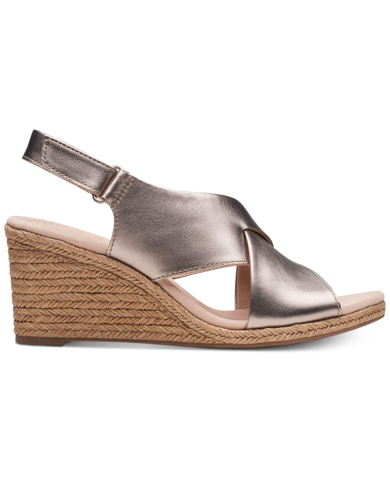 7eaf1e239925 Lyst - Clarks Lafely Alaine Wedge Sandals