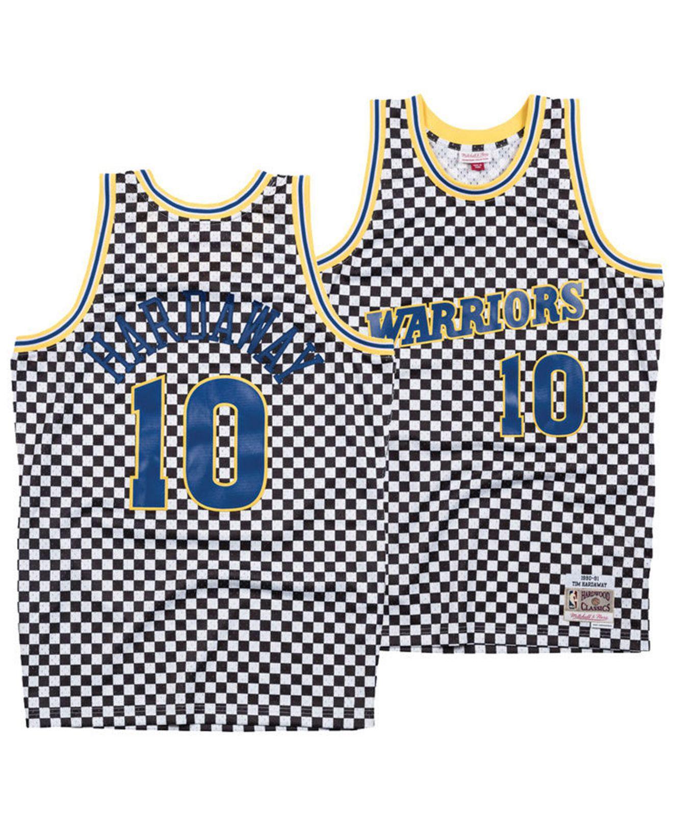 623f0c448 Mitchell   Ness. Men s Tim Hardaway Golden State Warriors Checkerboard Swingman  Jersey