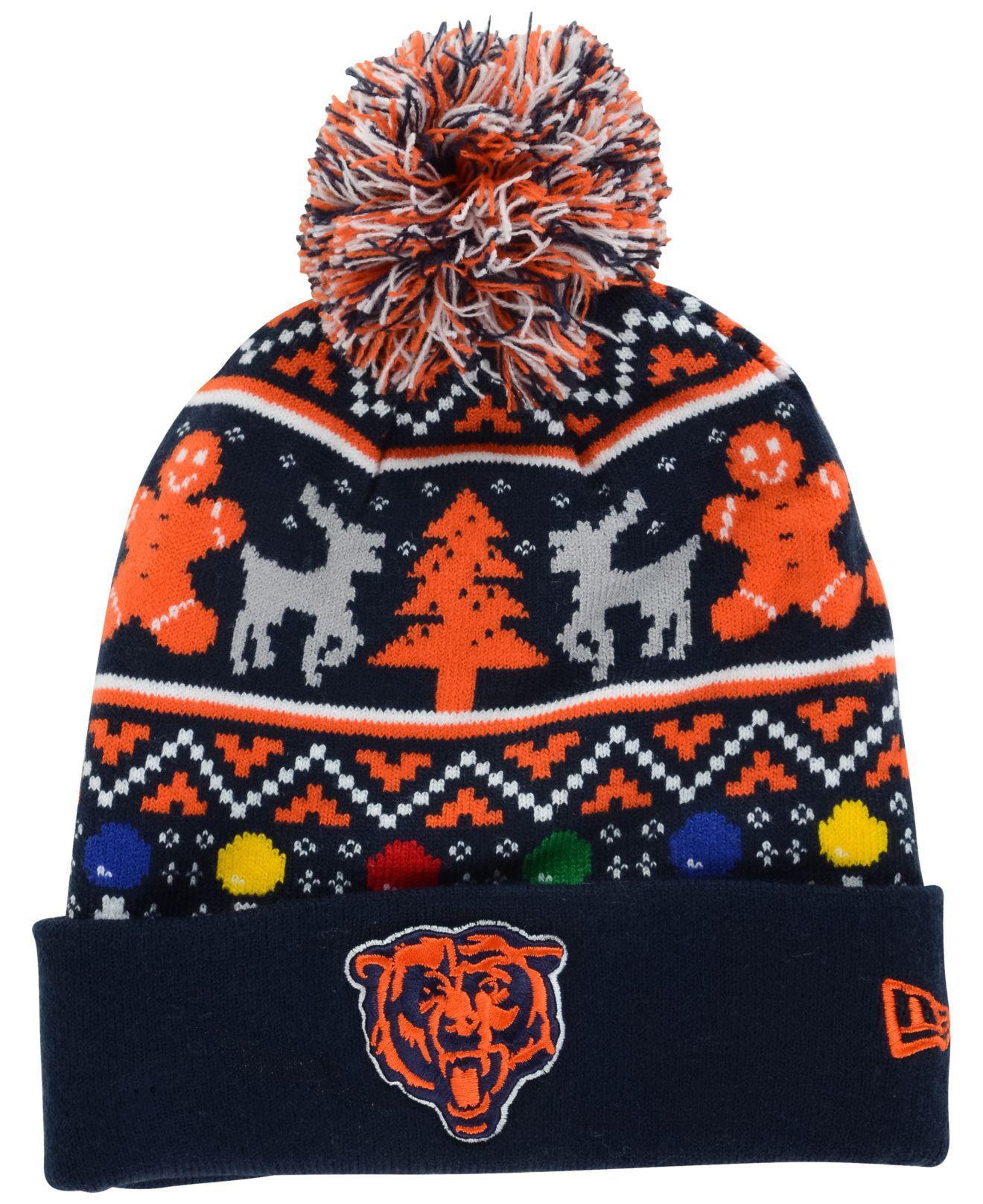 Lyst - KTZ Chicago Bears Christmas Sweater Pom Knit Hat for Men af288a711470