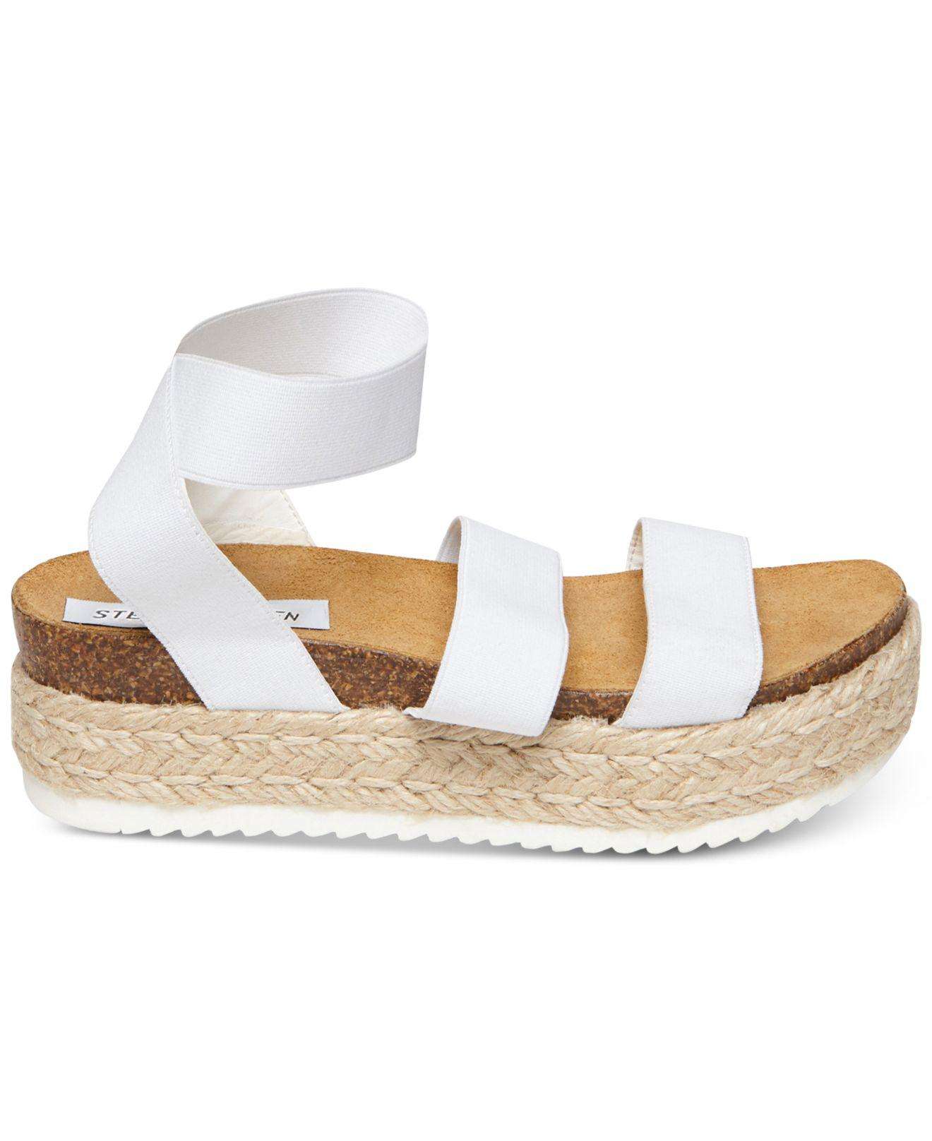 5d943e4572d Women's White Kimmie Flatform Espadrille Sandals
