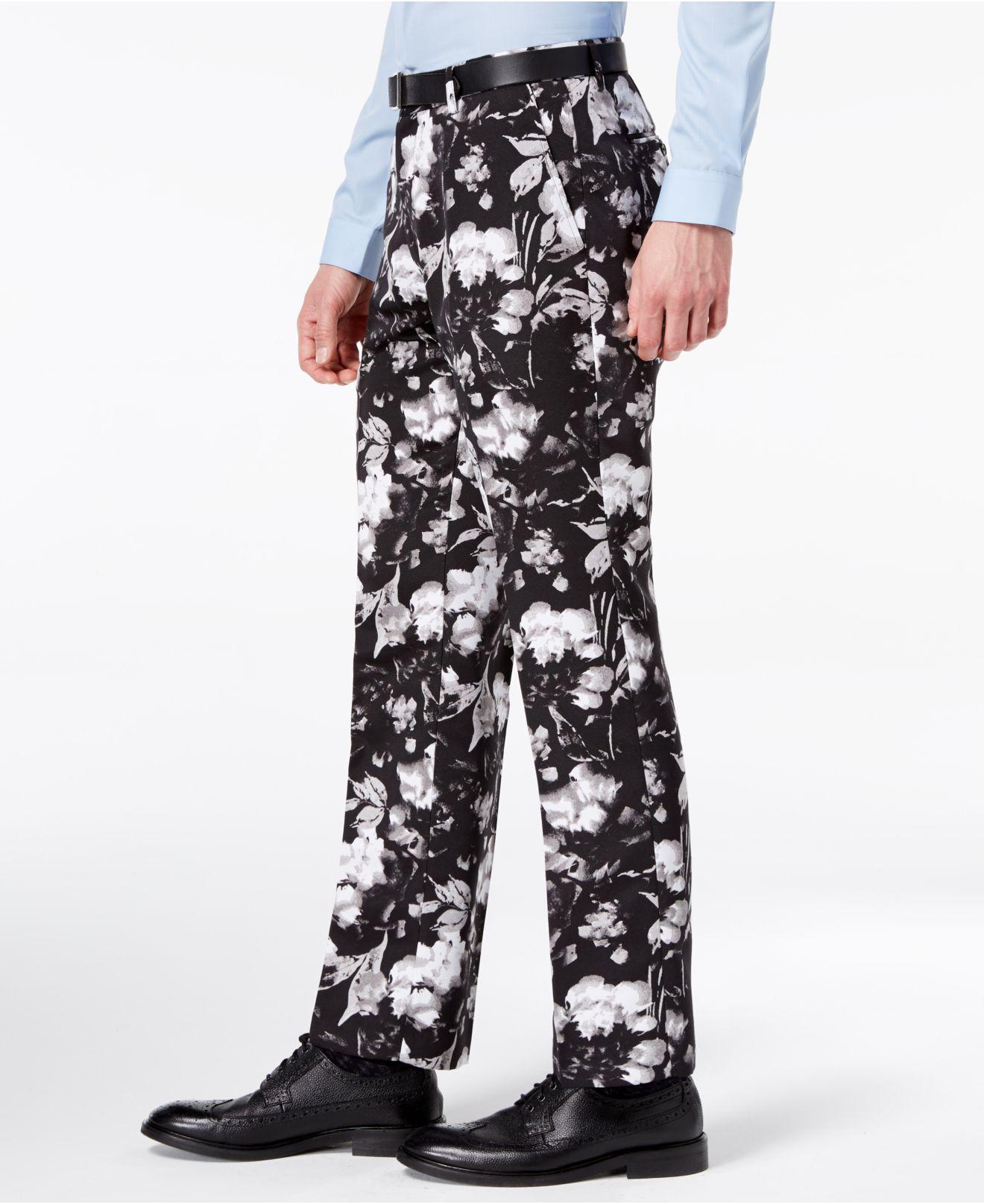 I-N-C Mens Ottoman Floral Casual Chino Pants