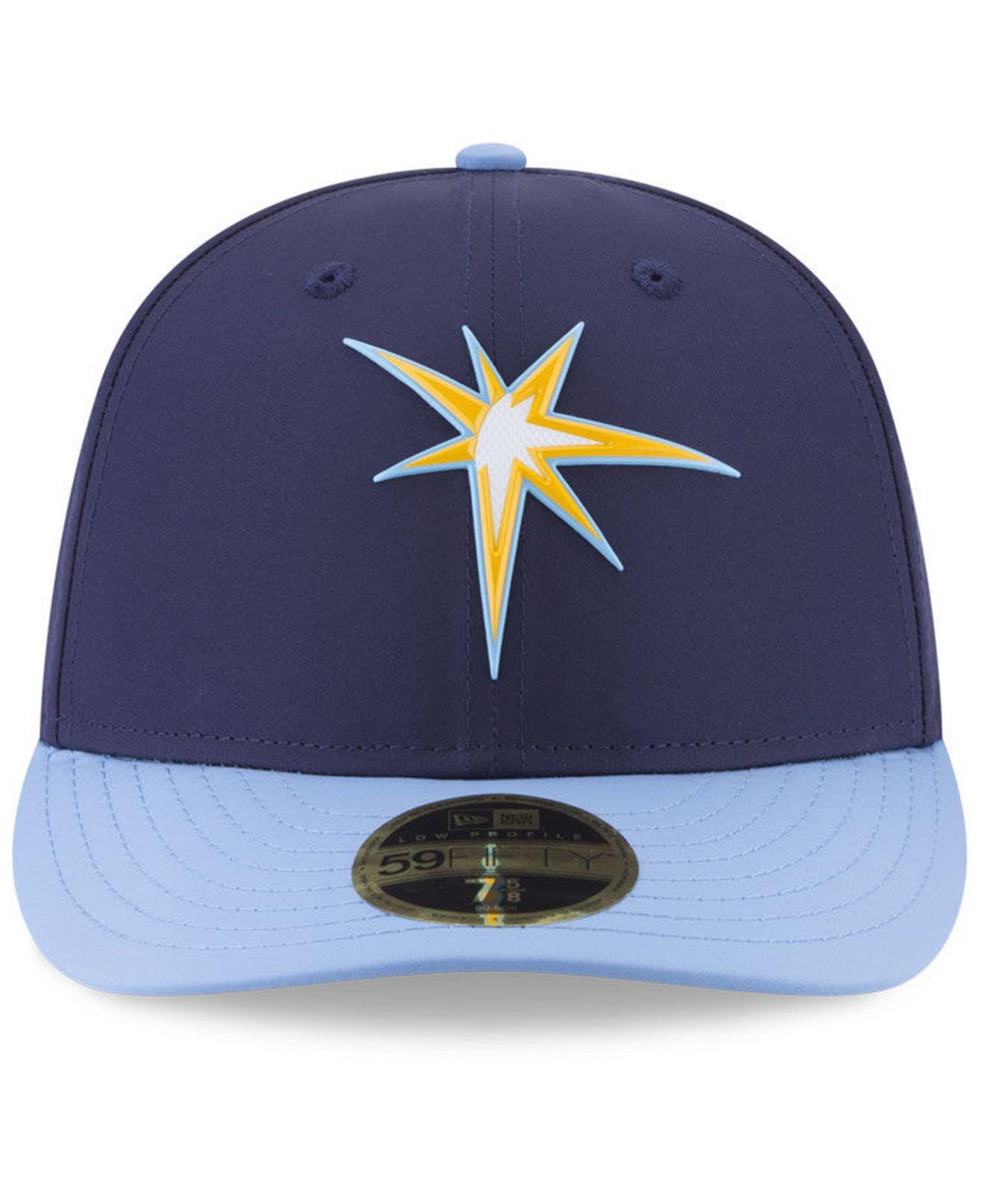 ce76edd2fd3 Lyst - KTZ Tampa Bay Rays Low Profile Batting Practice Pro Lite 59fifty  Fitted Cap in Blue for Men - Save 25%