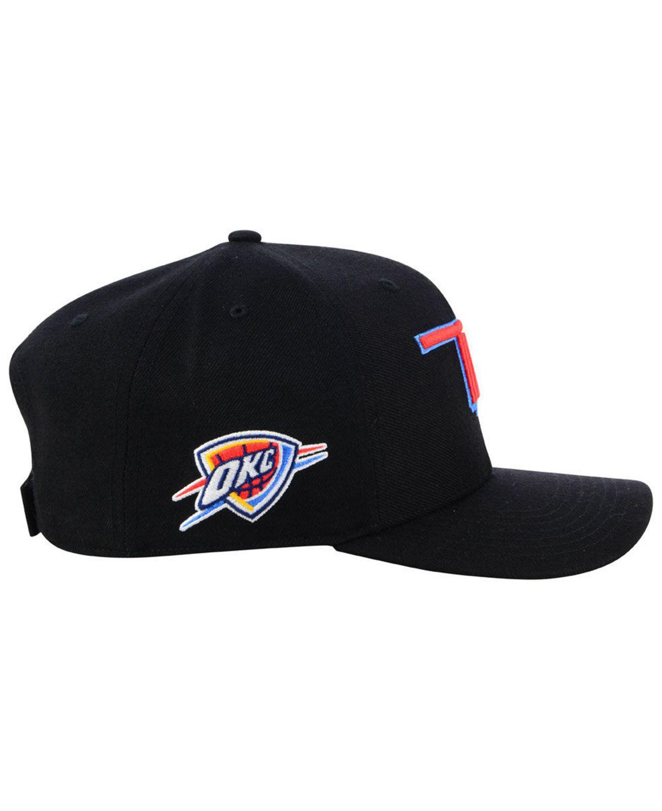 OKC Oklahoma City Thunder Hat Orange /& Black Curved Bill Adjustable hook /& loop!