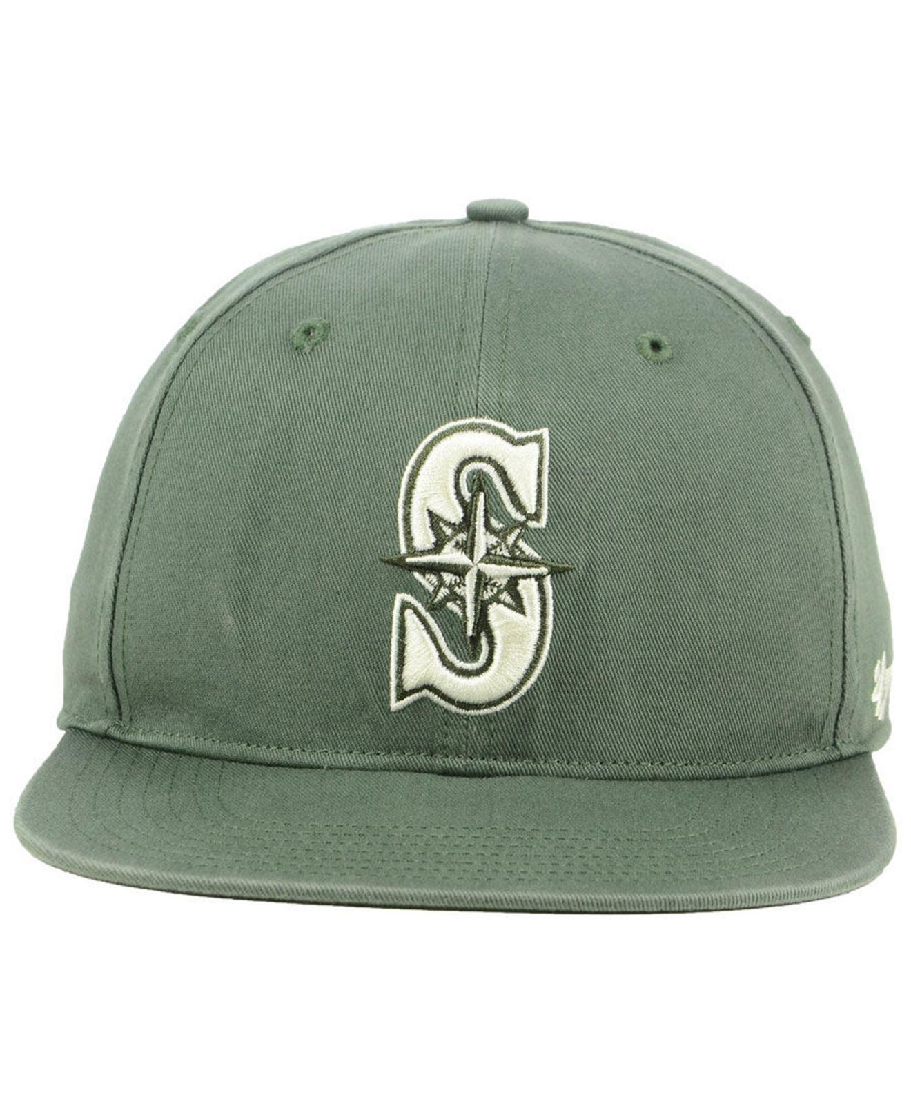 more photos 45dc9 8d787 ... best price lyst 47 brand seattle mariners moss snapback cap in green  for men 505c7 a5ea8