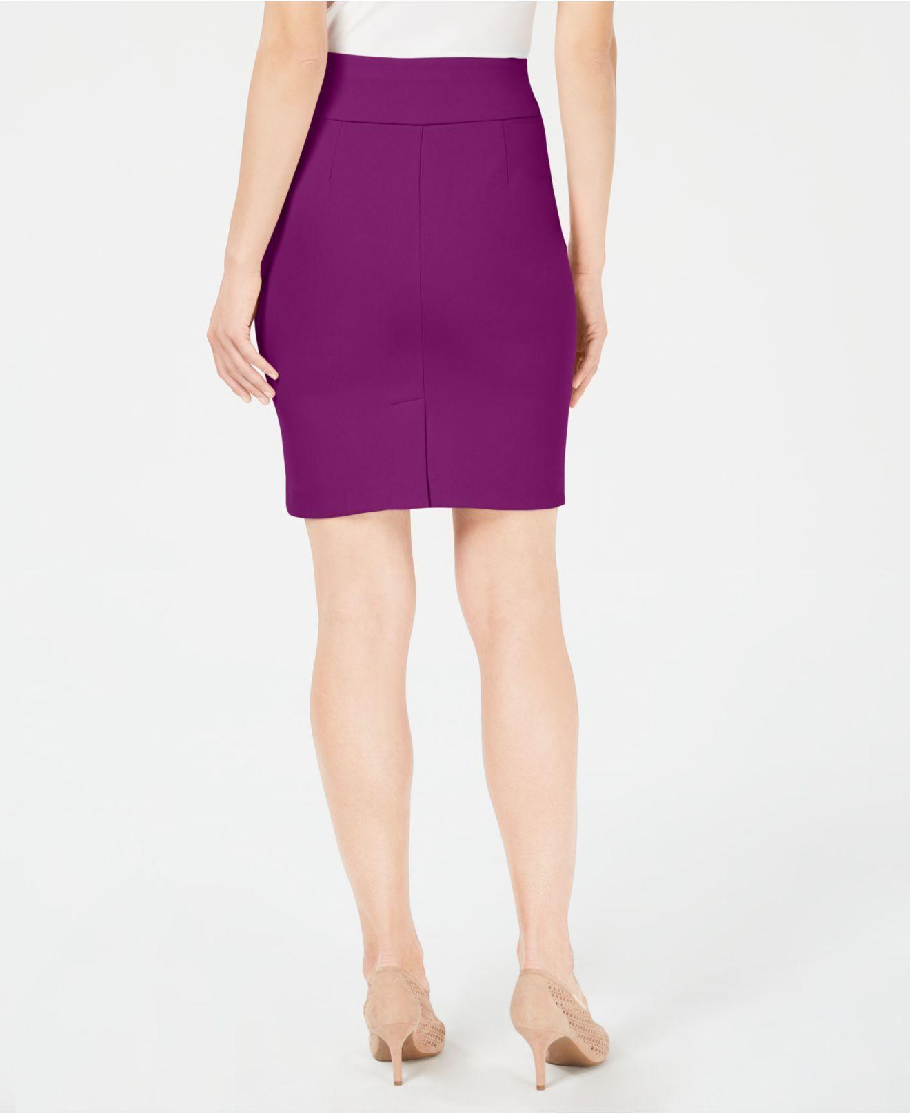 2b3e7bbced Lyst - Alfani Petite Crepe Pencil Skirt, Created For Macy's in Purple