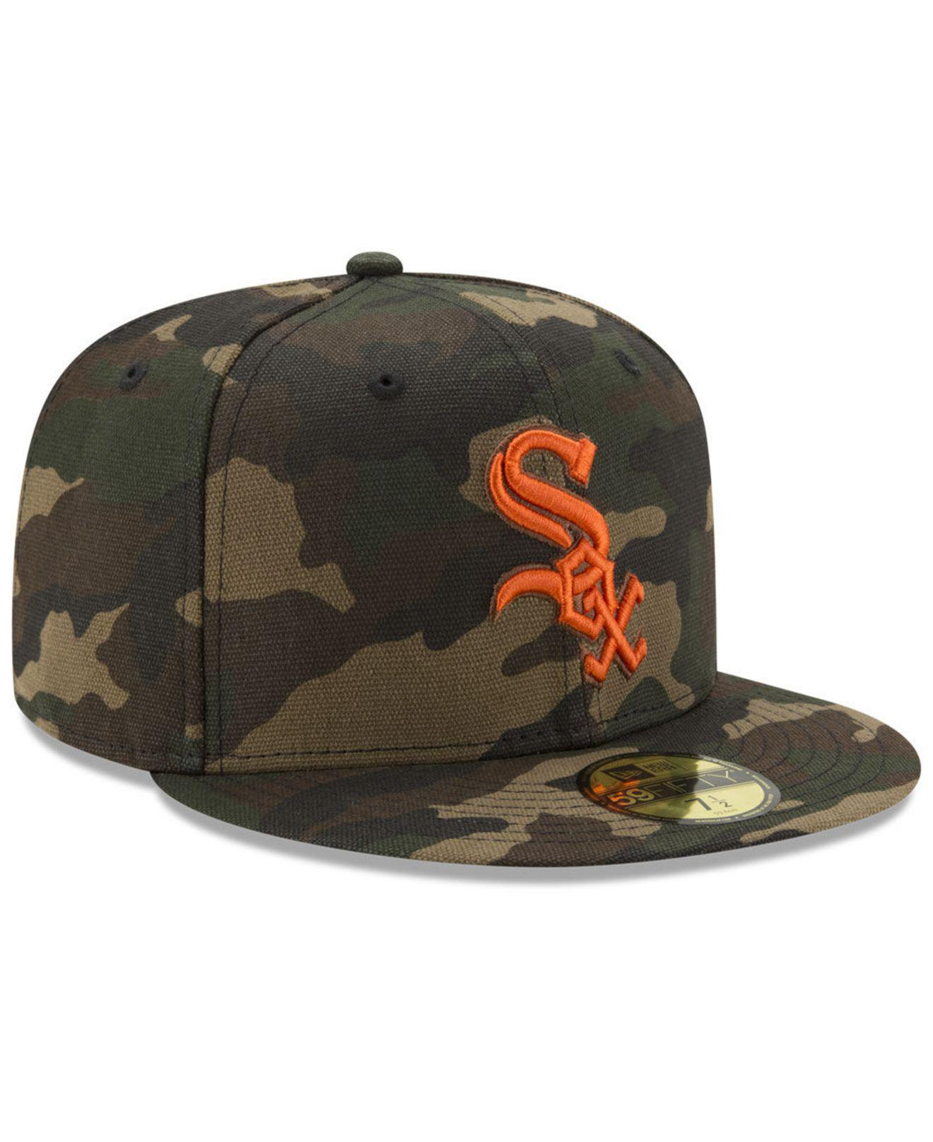 bd05d6358c3 Lyst - KTZ Chicago White Sox Camo On Canvas 59fifty Cap in Green for Men