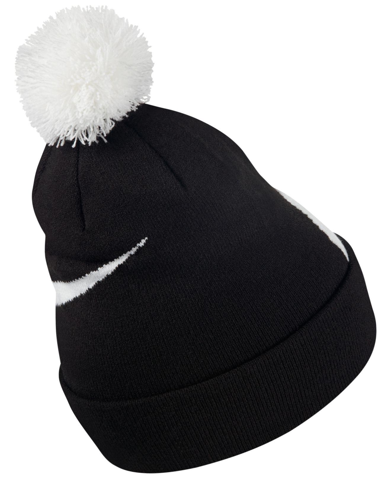 check out 71c48 d6327 Lyst - Nike Men s Exploded Swoosh Pom Pom Beanie in Black for Men